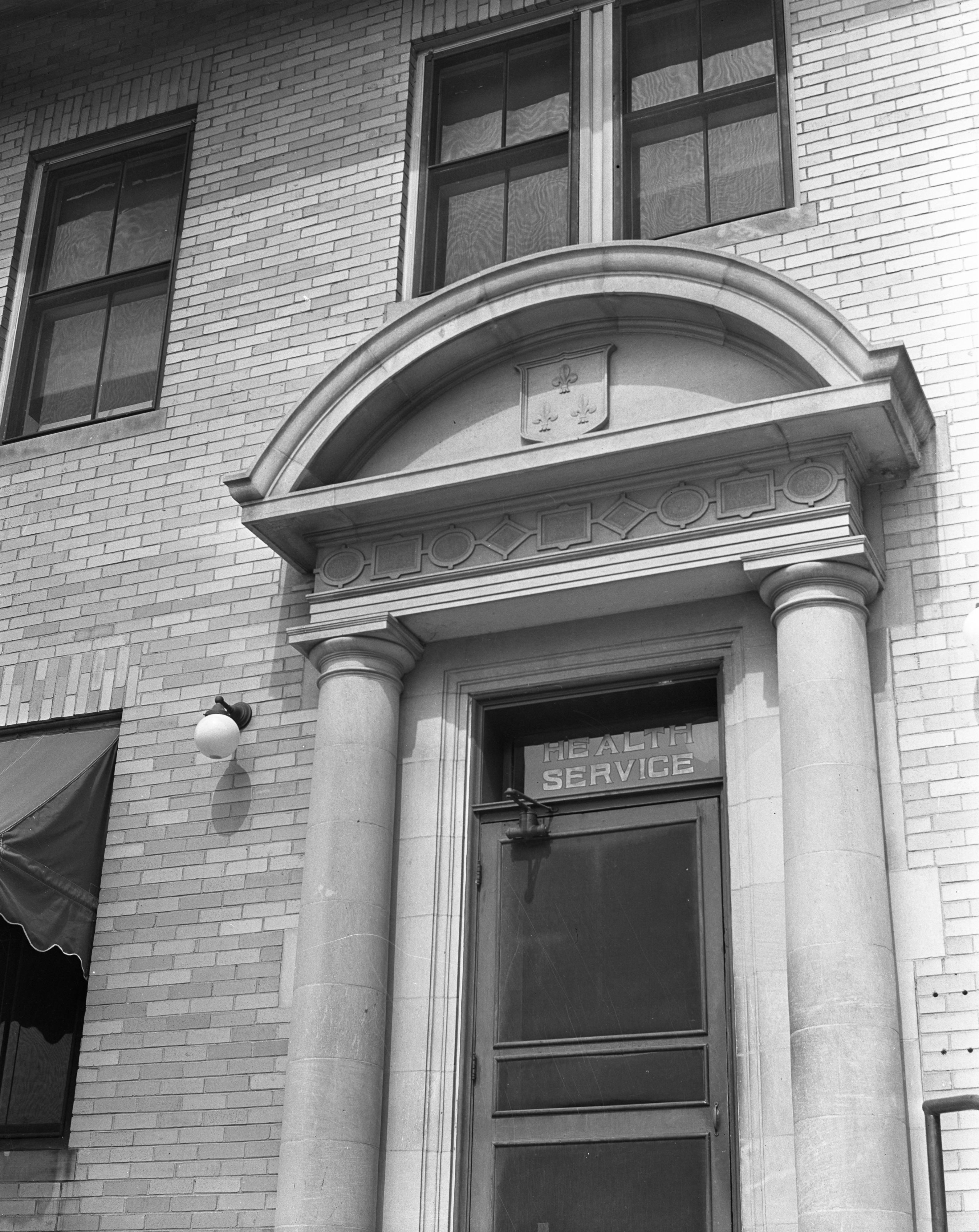 University of Michigan Health Services Doorway, 1938   Ann