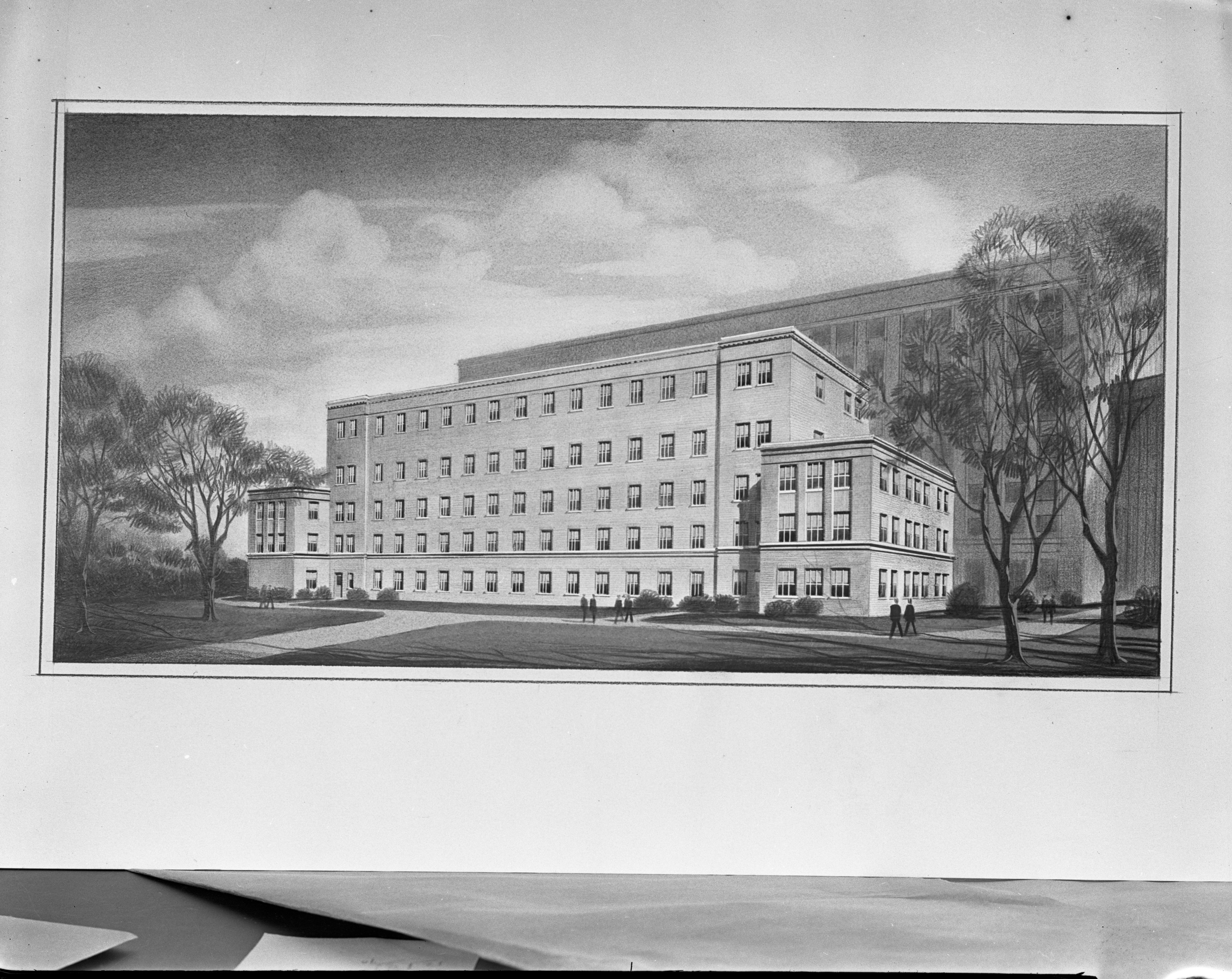 University of Michigan's proposed Neuropsychiatric Clinic, 1938 image
