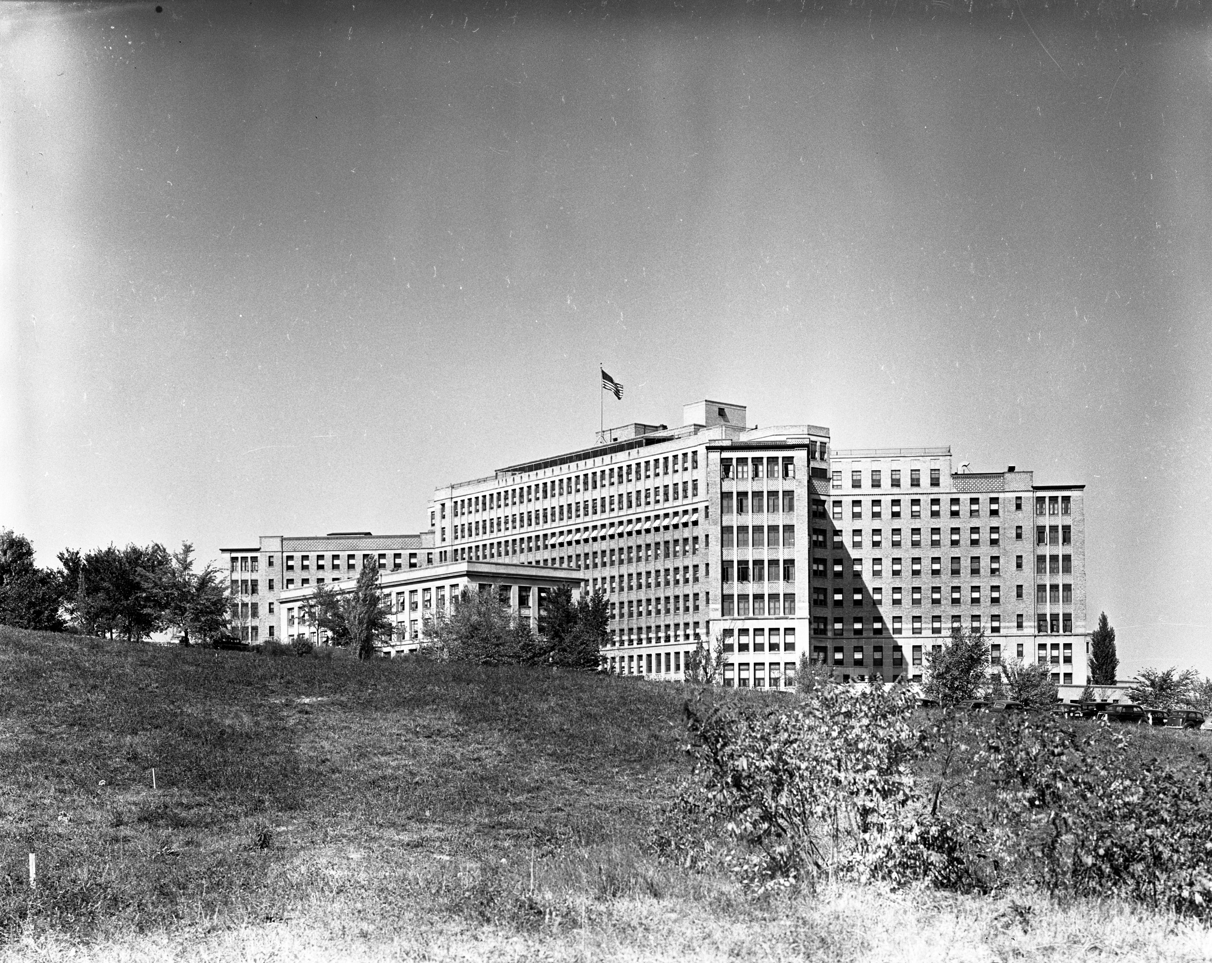 University of Michigan Hospital (Old Main), October 1938 image