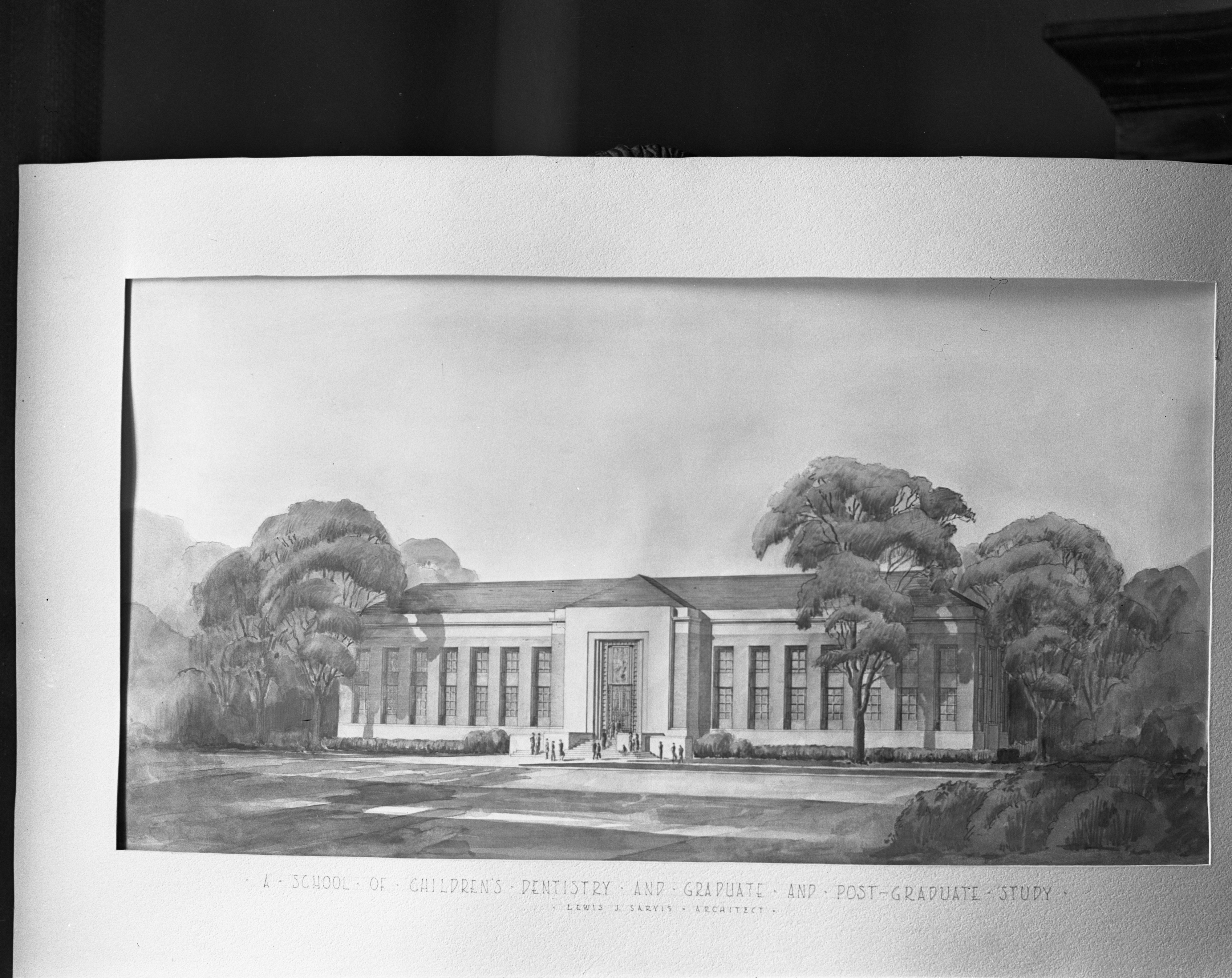 Drawing of Proposed new University of Michigan Dental School, December 1938 image