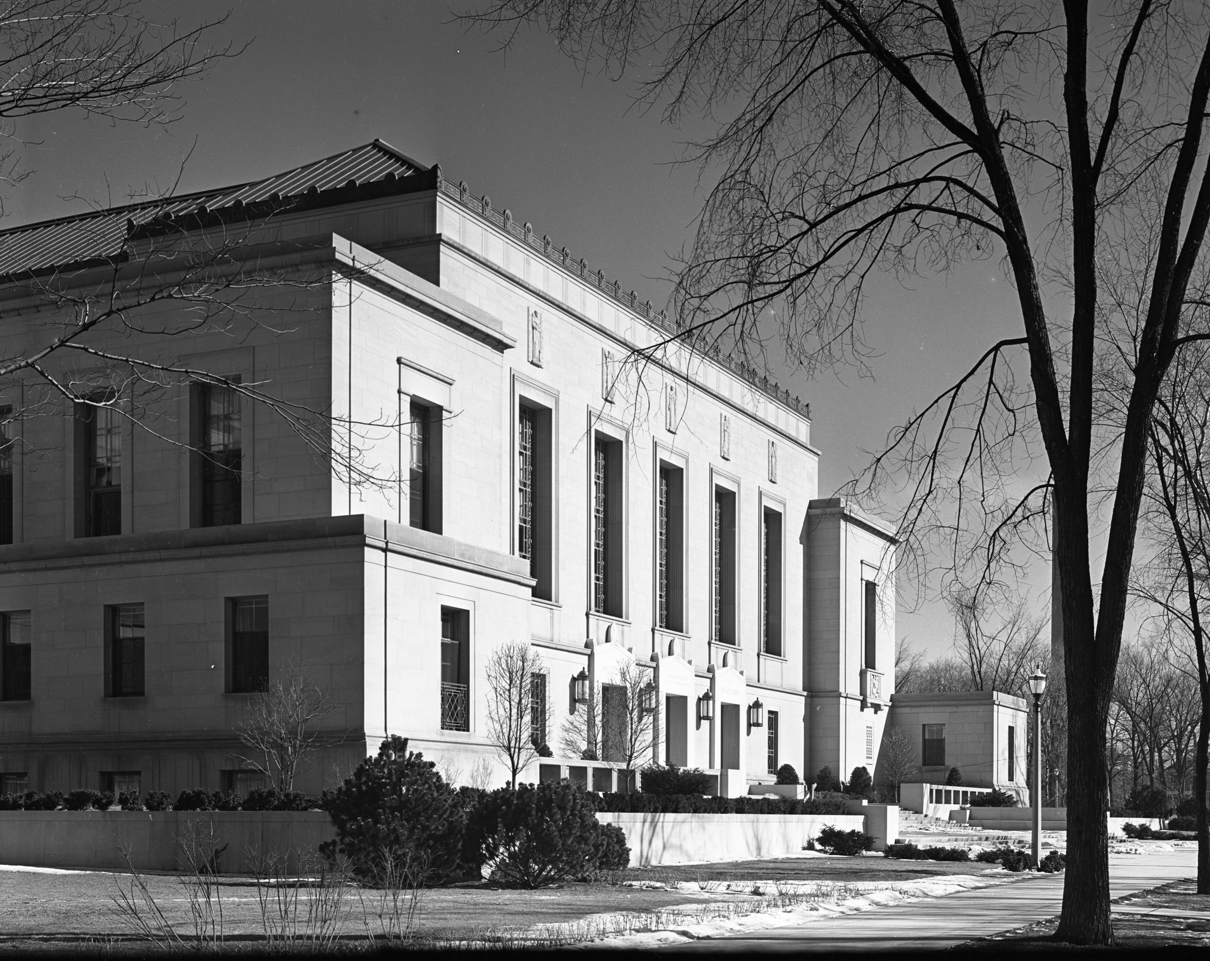 Rackham School facade, March 1939 image