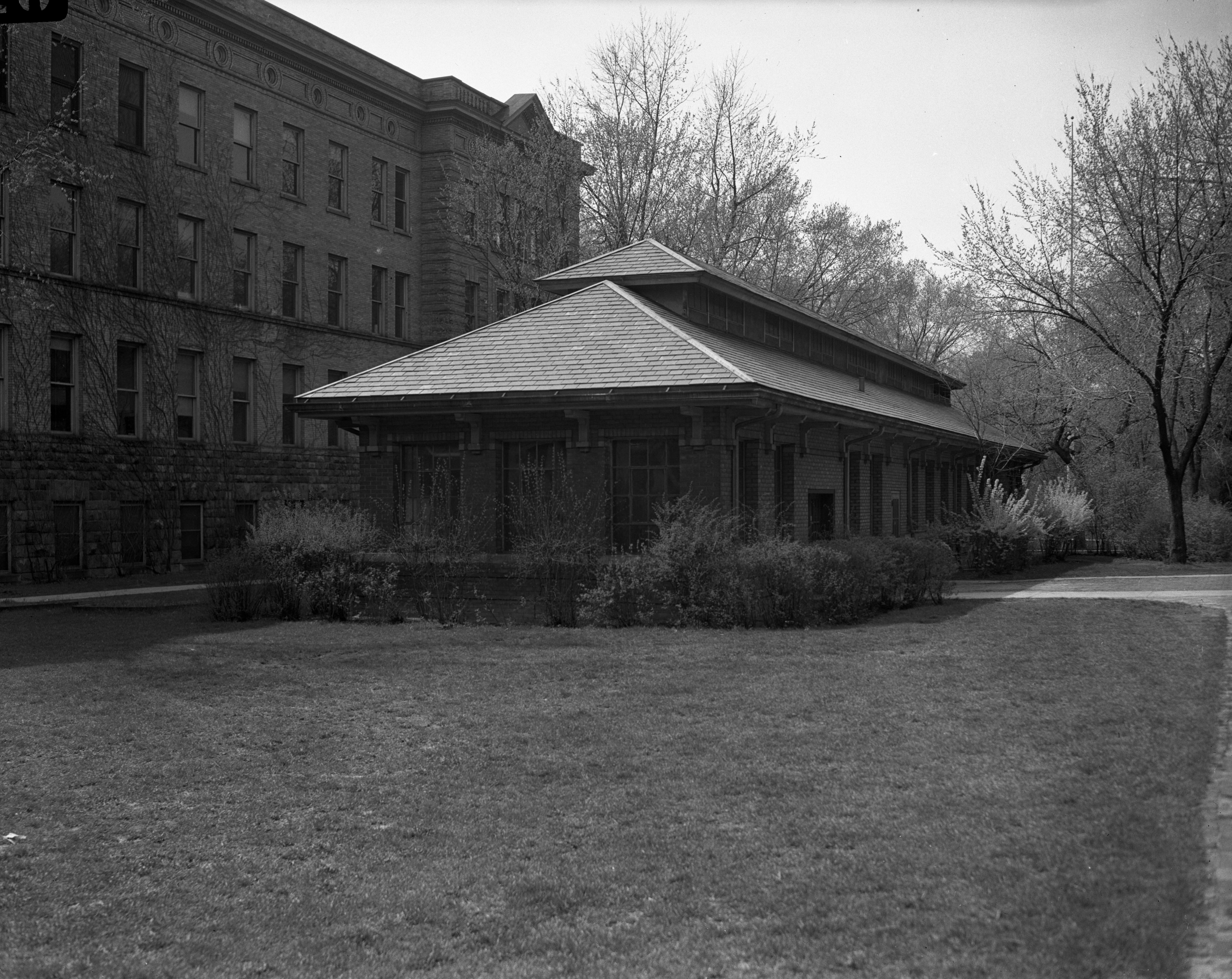 Back of the University of Michigan Sub-Station, March 1945 image
