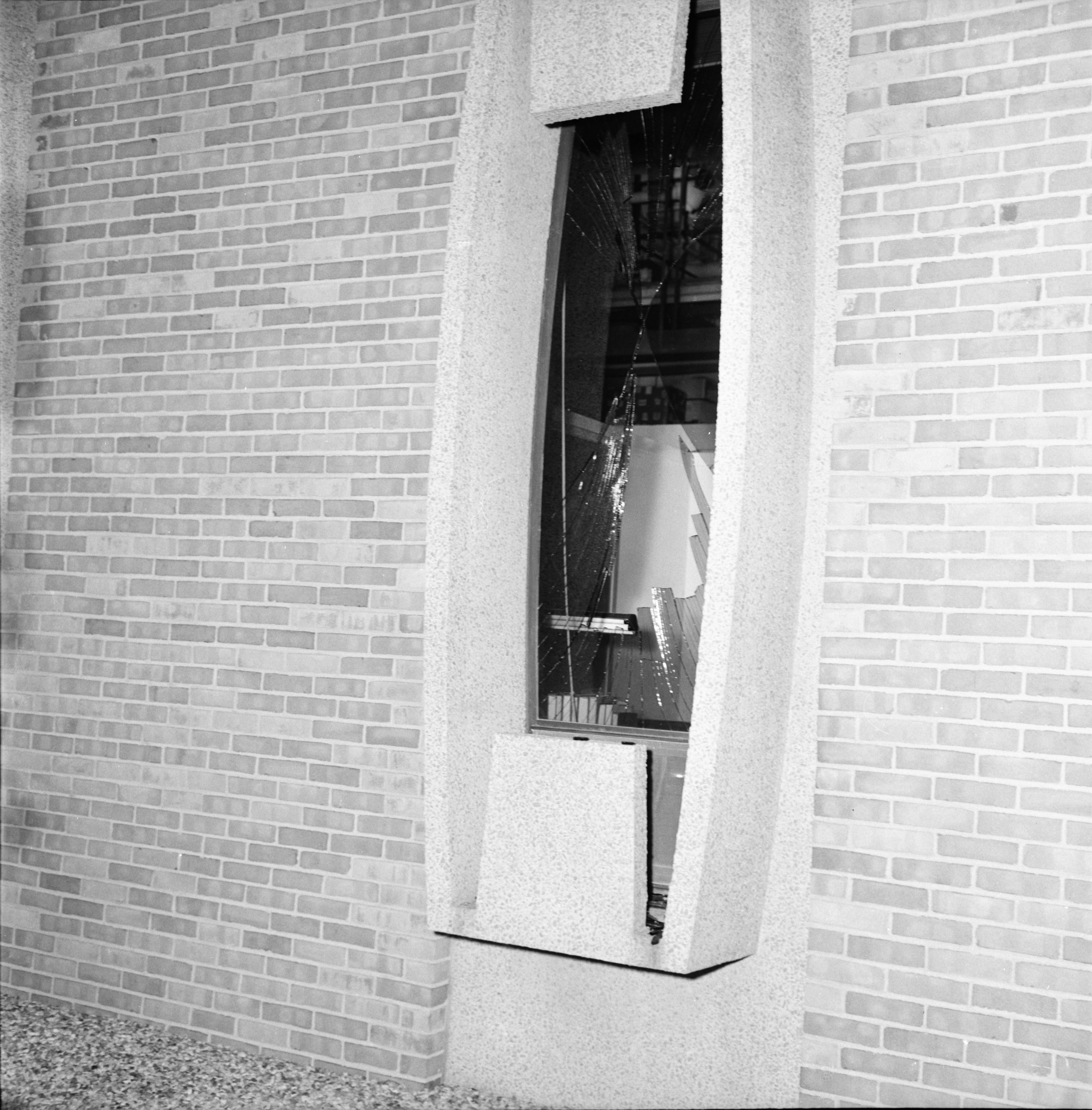 Window Blown Out by Bomb Blast at Institute of Science and Technology, University of Michigan image