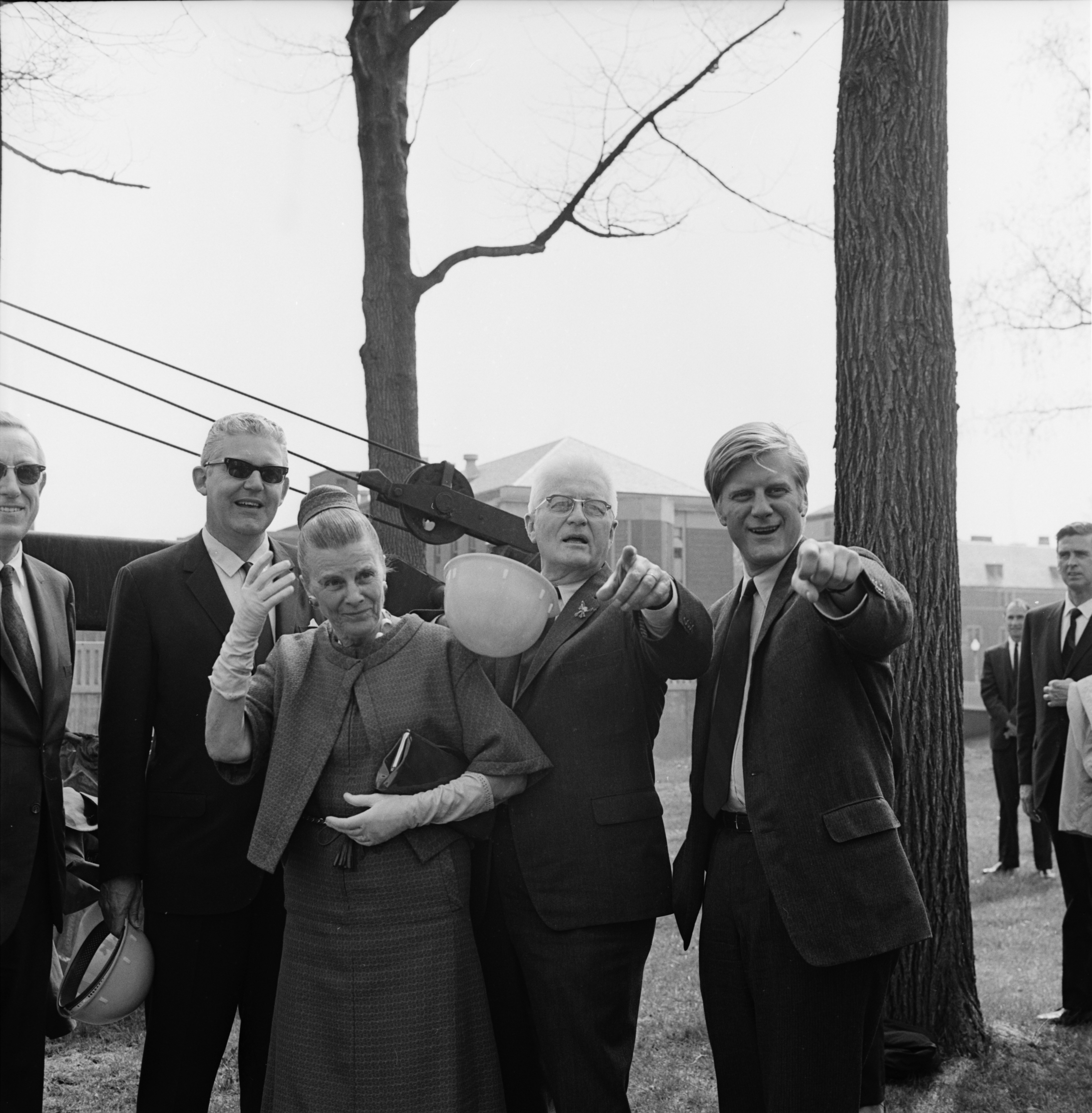 Groundbreaking for the Power Center, April 1969 image