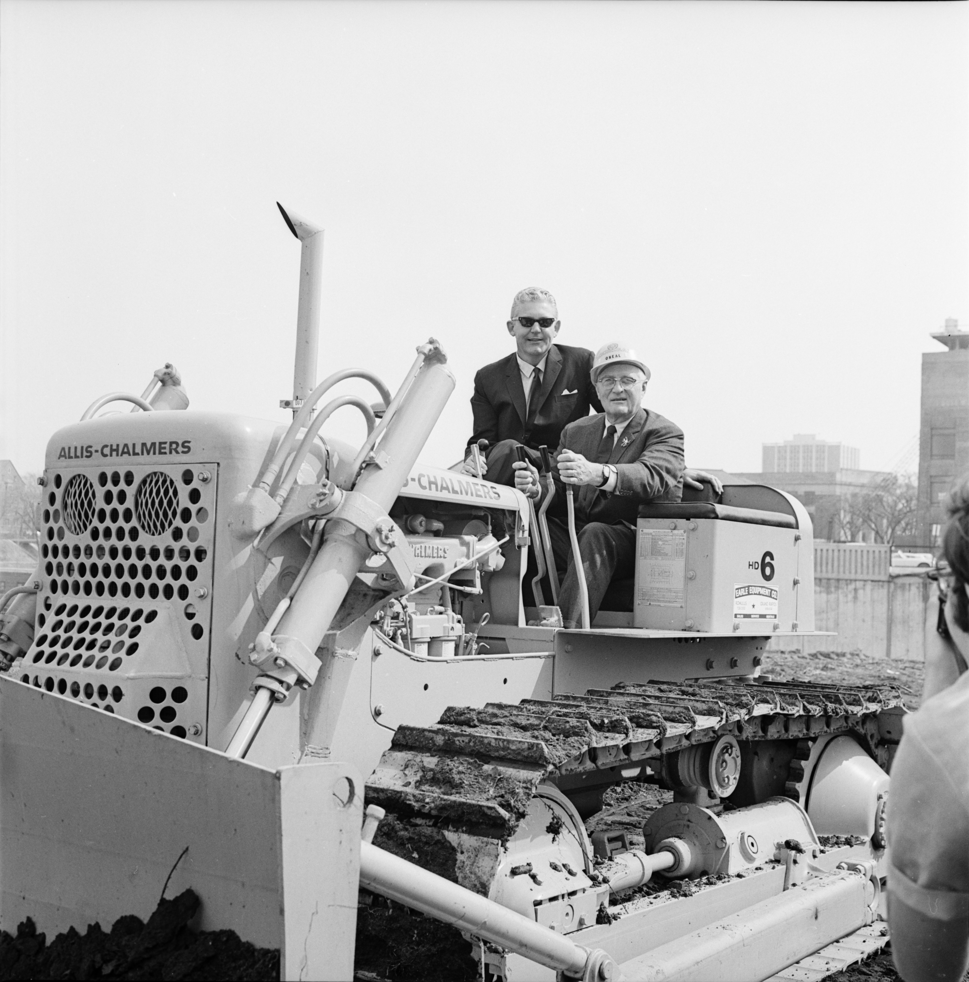 Eugene Power and Robben Fleming at the Groundbreaking for the Power Center, April 1969 image