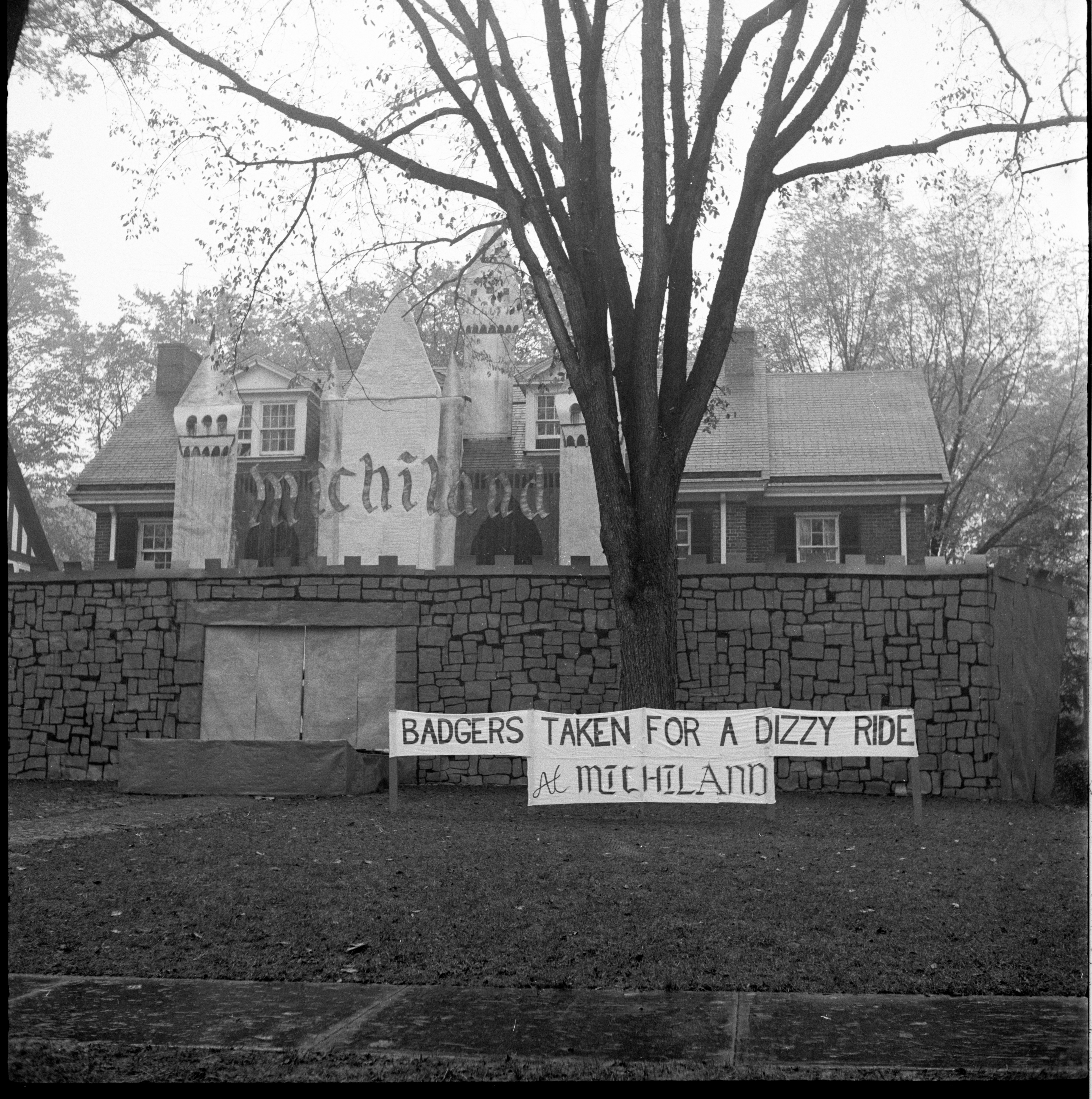 """Michiland"" - Alpha Sigma Phi Homecoming Display, October 1959 image"