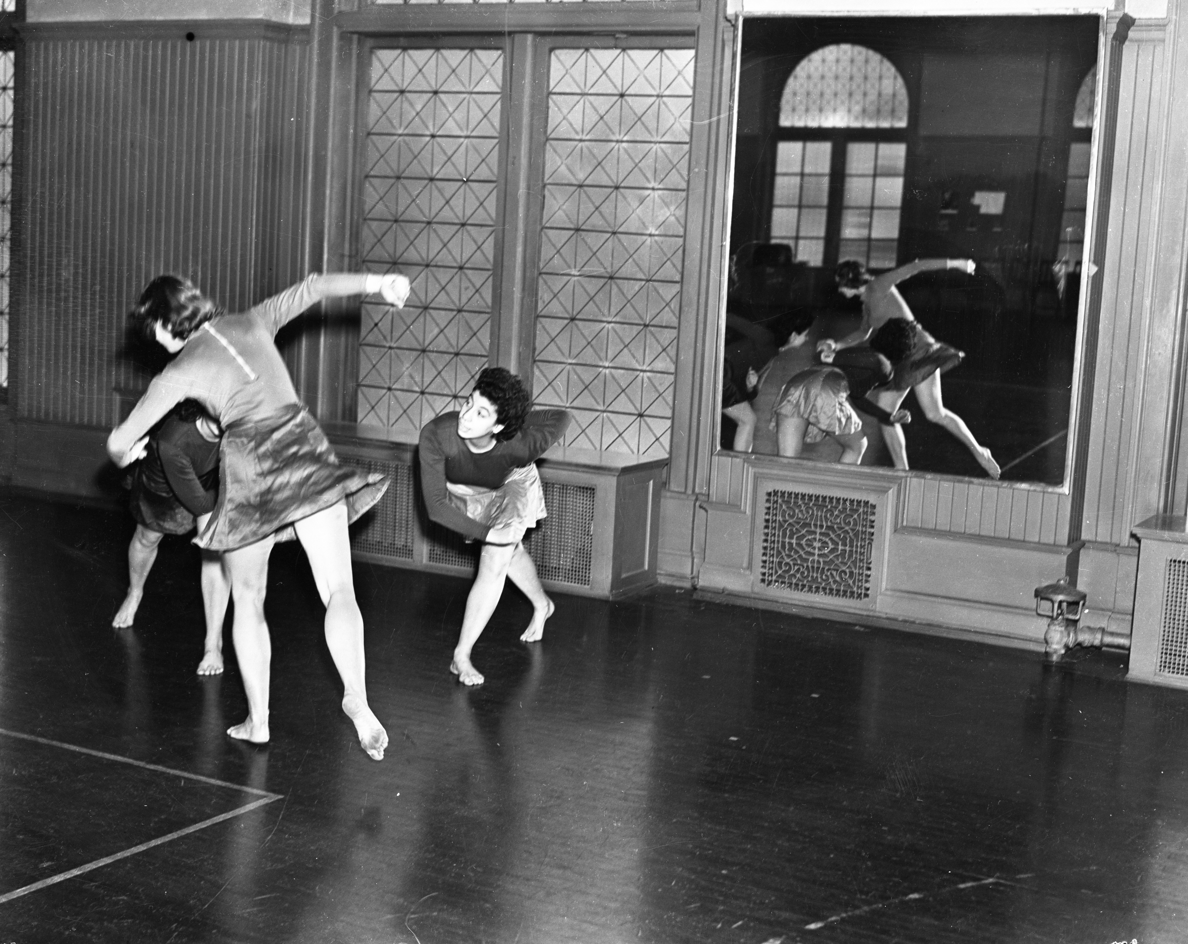 Modern Dance Club at the Barbour Gym, 1938 image