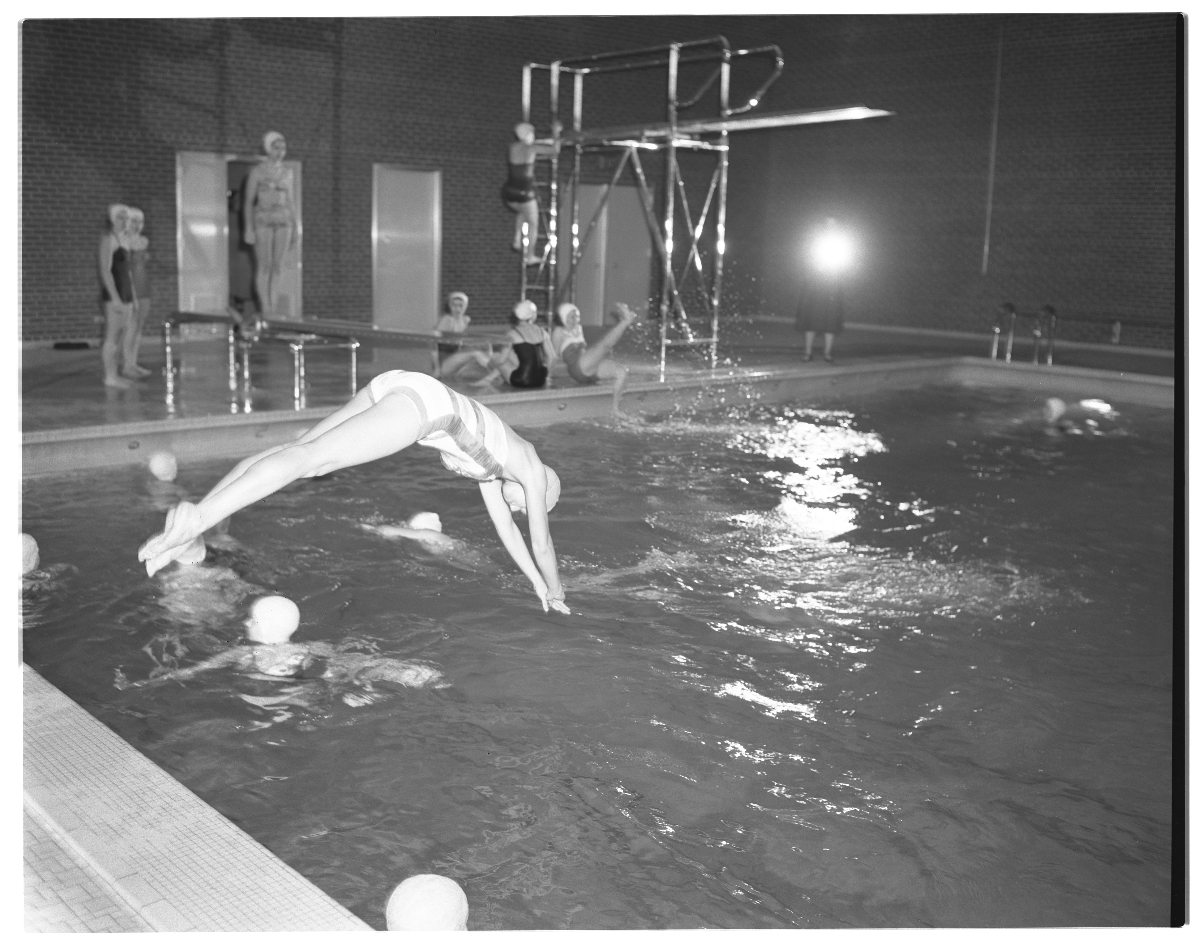 First Use of New Margaret Bell Women's Swimming Pool, March 1954 image