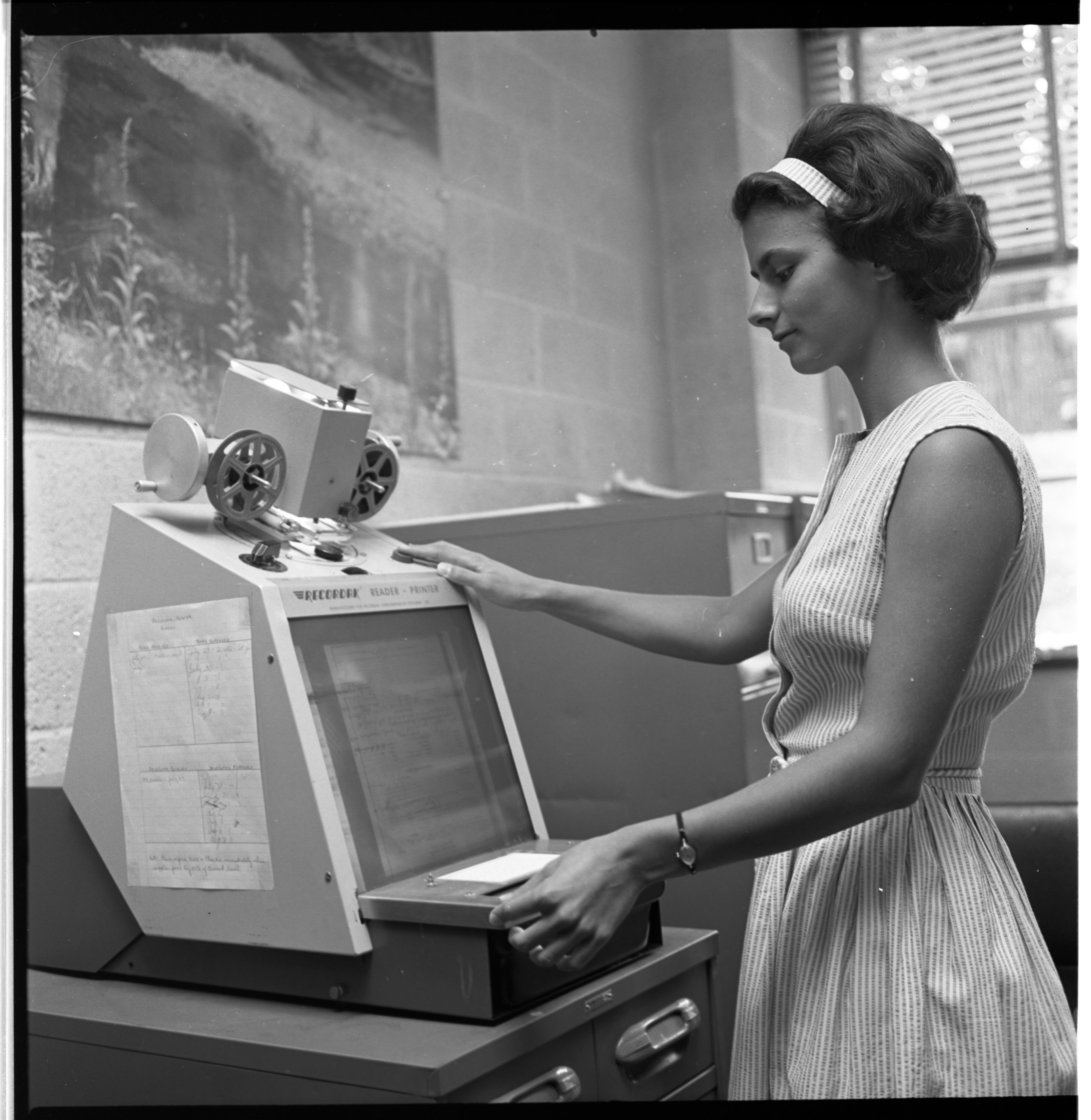 Eugenia Leeds At Work, August 1963 image