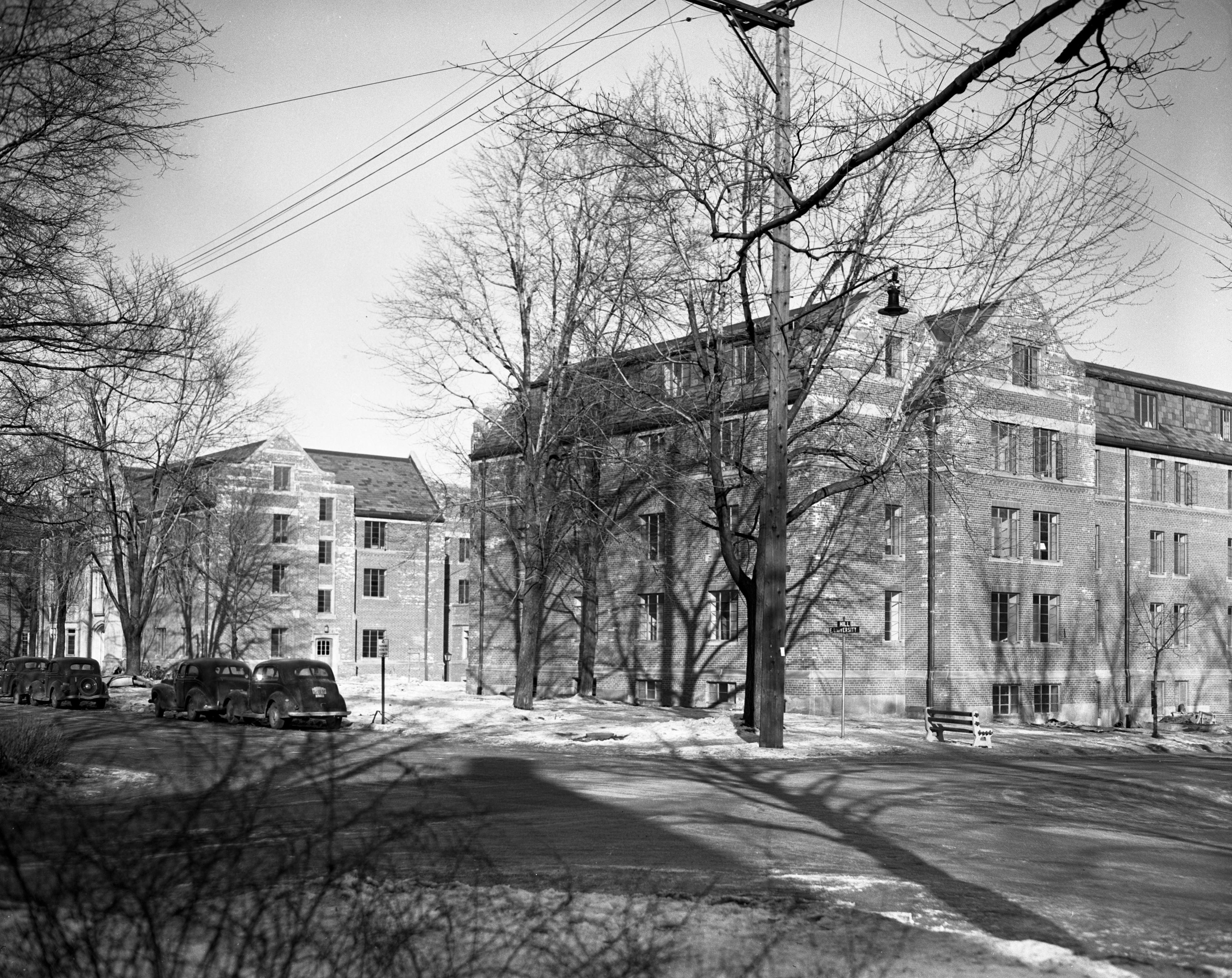 New addition to the East Quadrangle dormitory at Hill St. and E. University Ave., January 1948 image