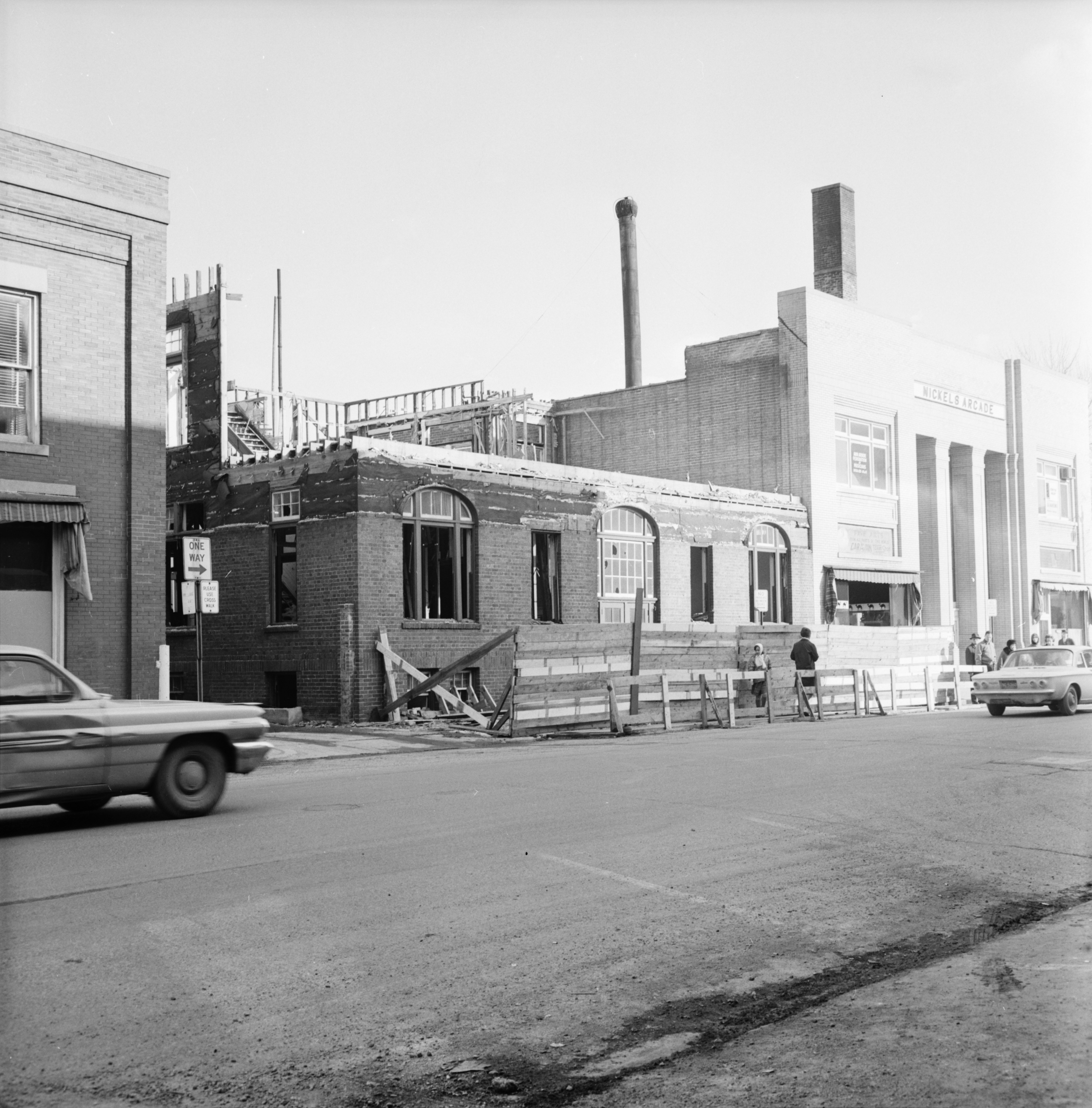 Demolition of former University of Michigan Music School, 325 Maynard, March 1965 image