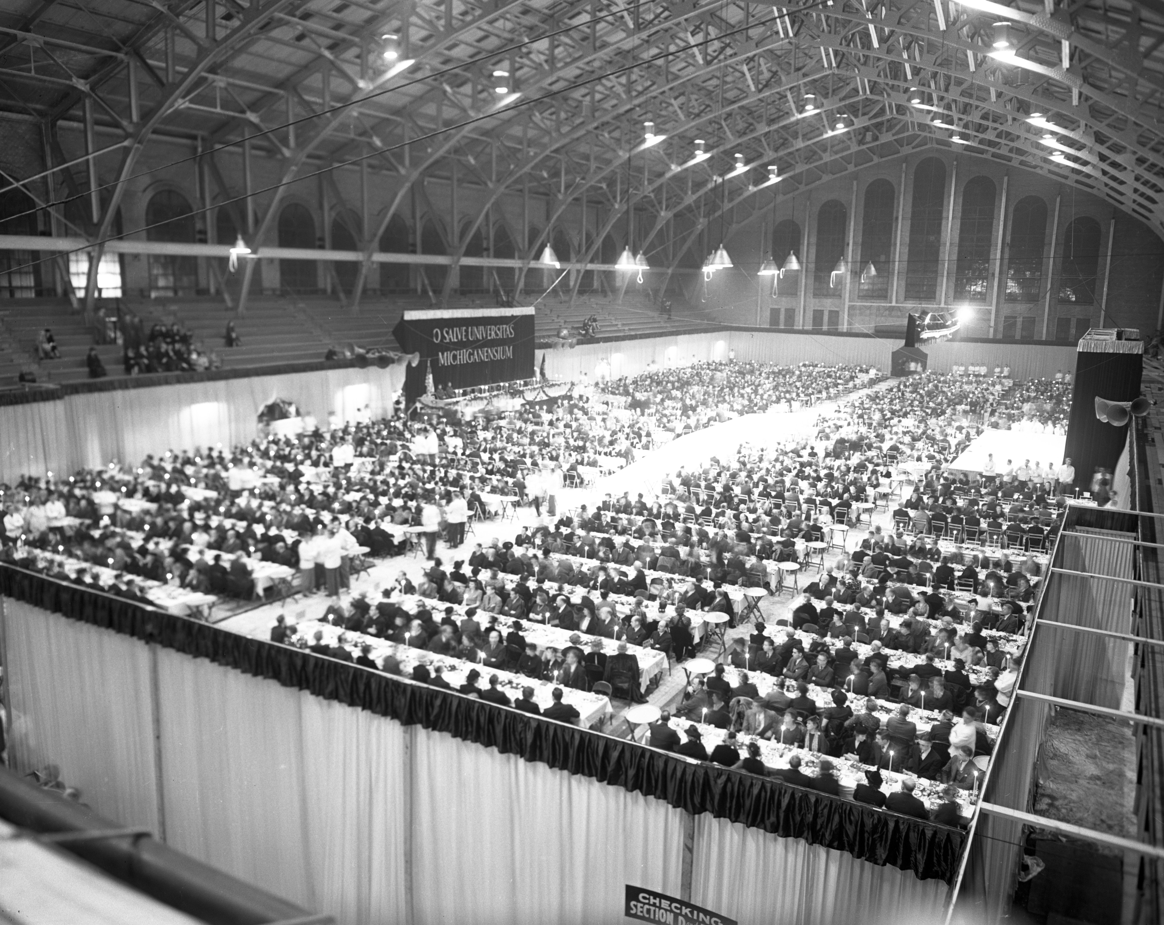 Yost Field House Filled To Capacity For Dinner Honoring University of Michigan President Ruthven, October 1939 image