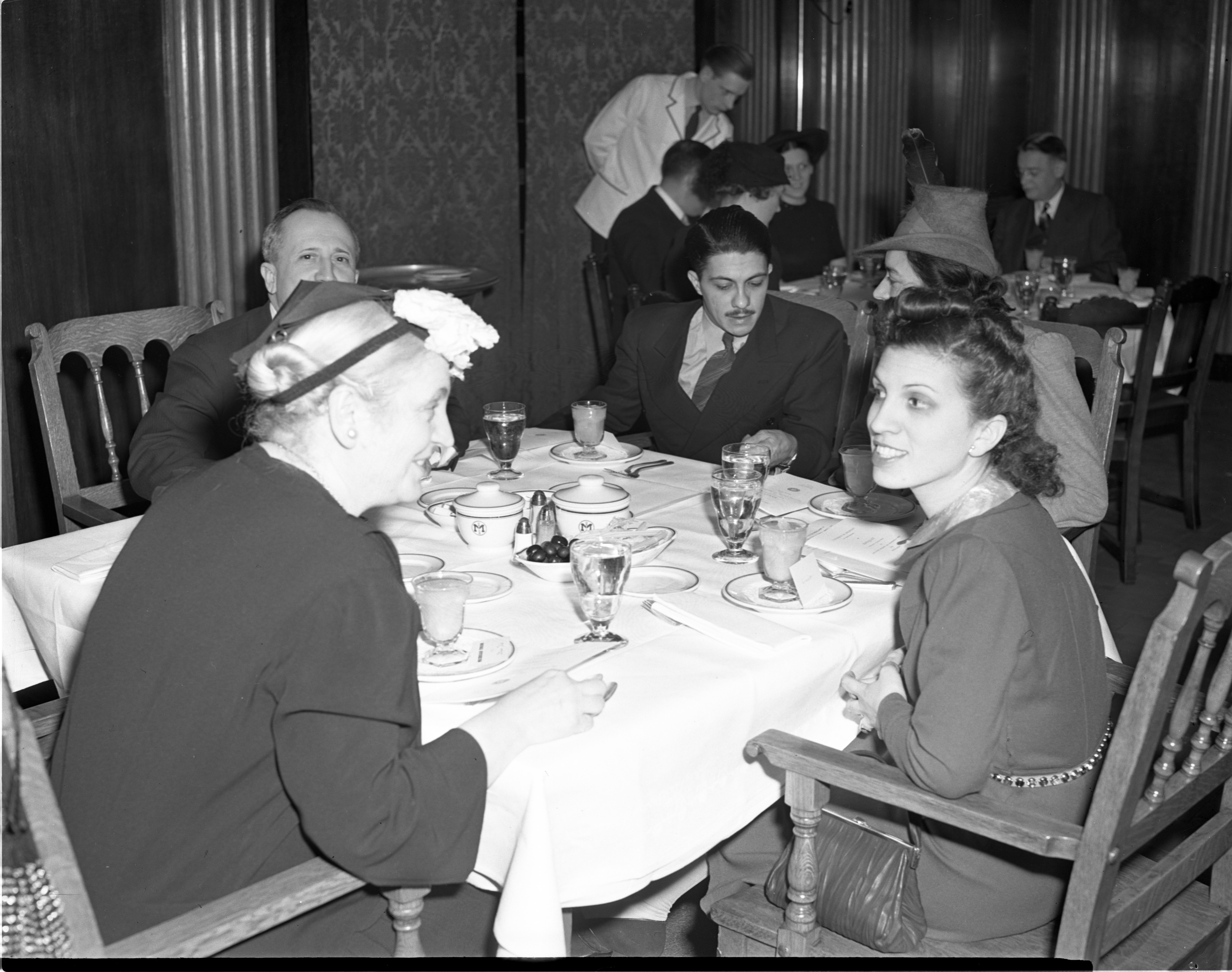Student From South America On Right Talks To Marguerite del Toro At The Michigan Union, 1941 image