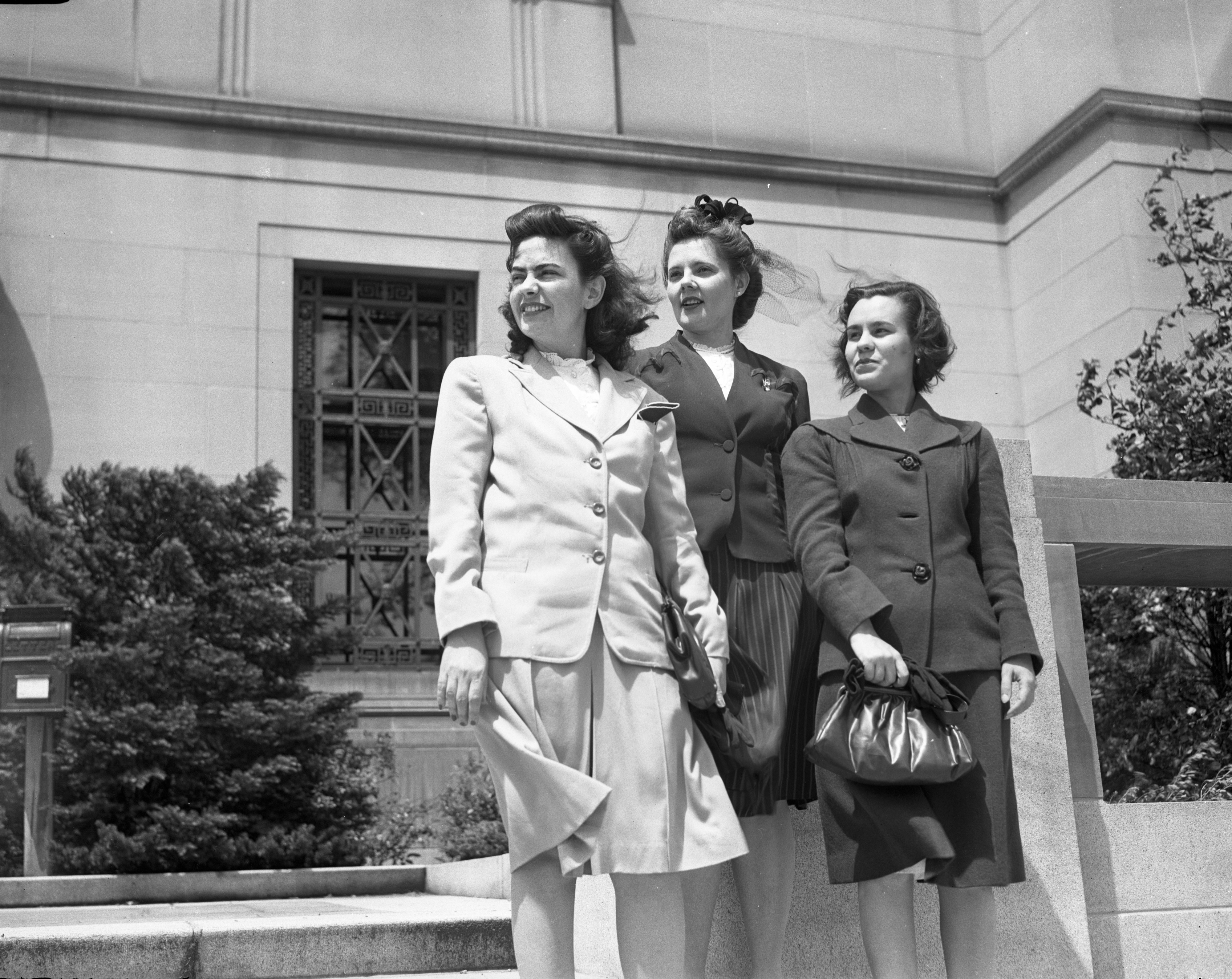 U-M Students From South America On Steps Of Rackham, June 1945 image
