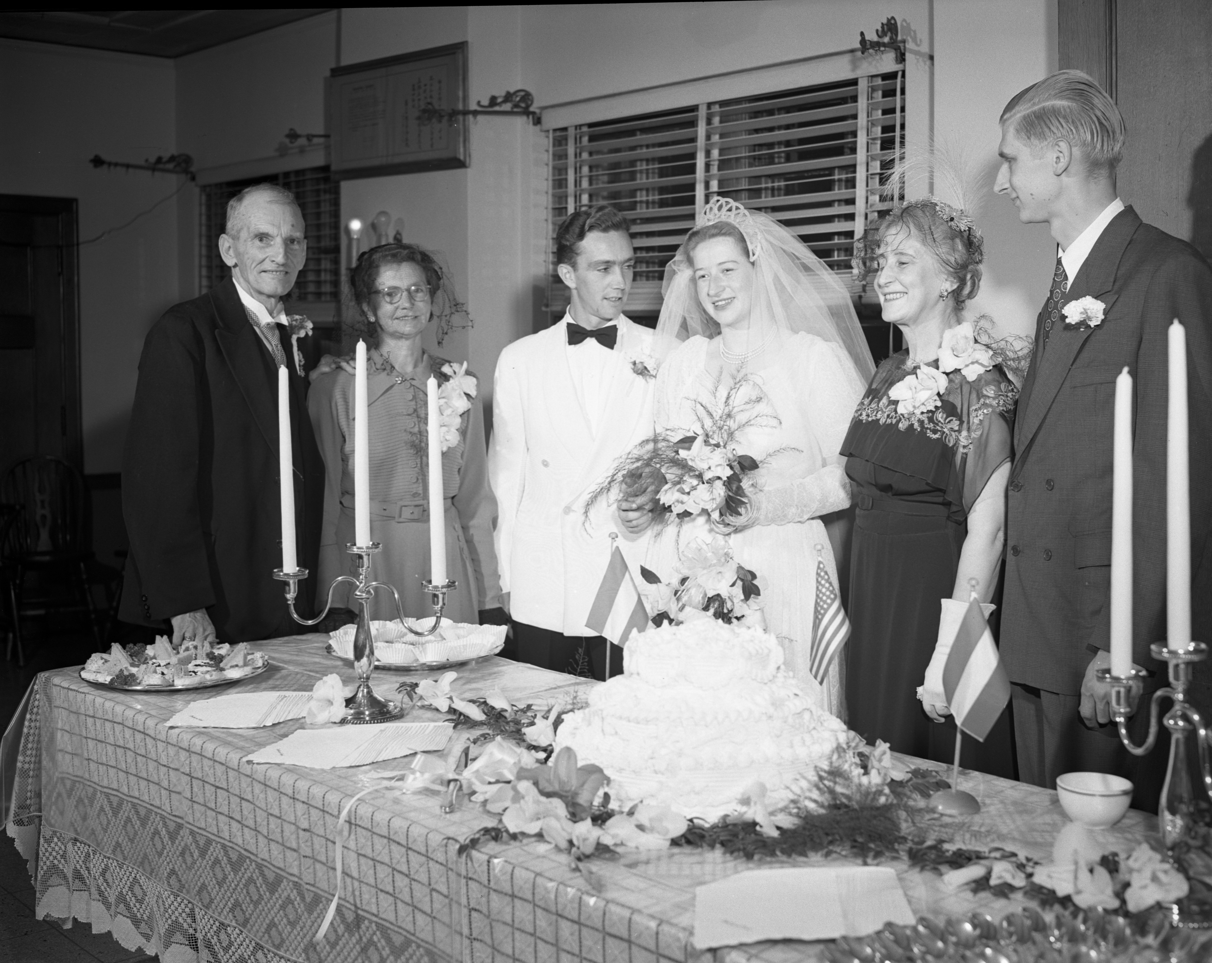 First Wedding Held At UM's International Center, September 1950 image