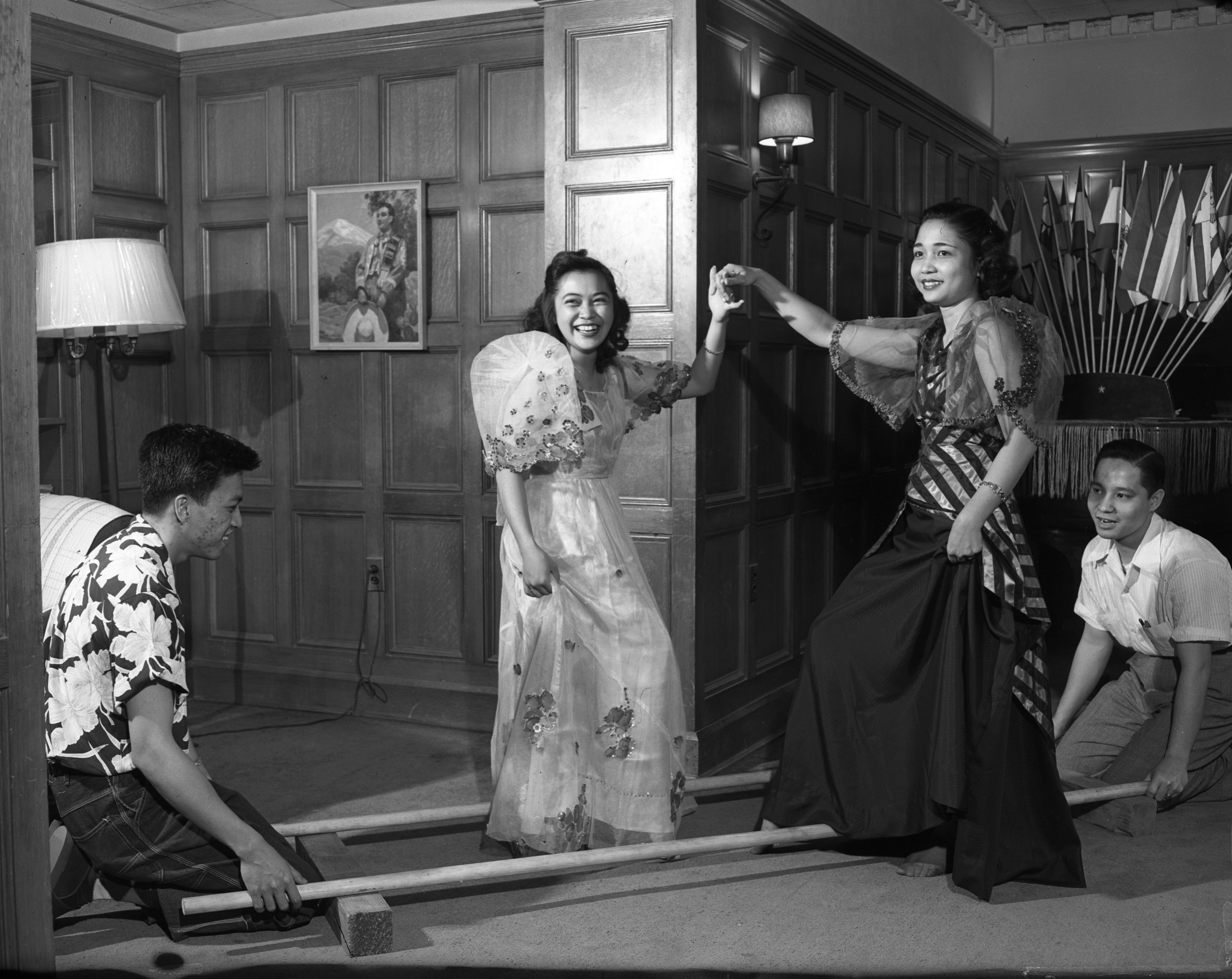 Demonstration Of Dance From The Philippines At UM International Center, May 1951 image