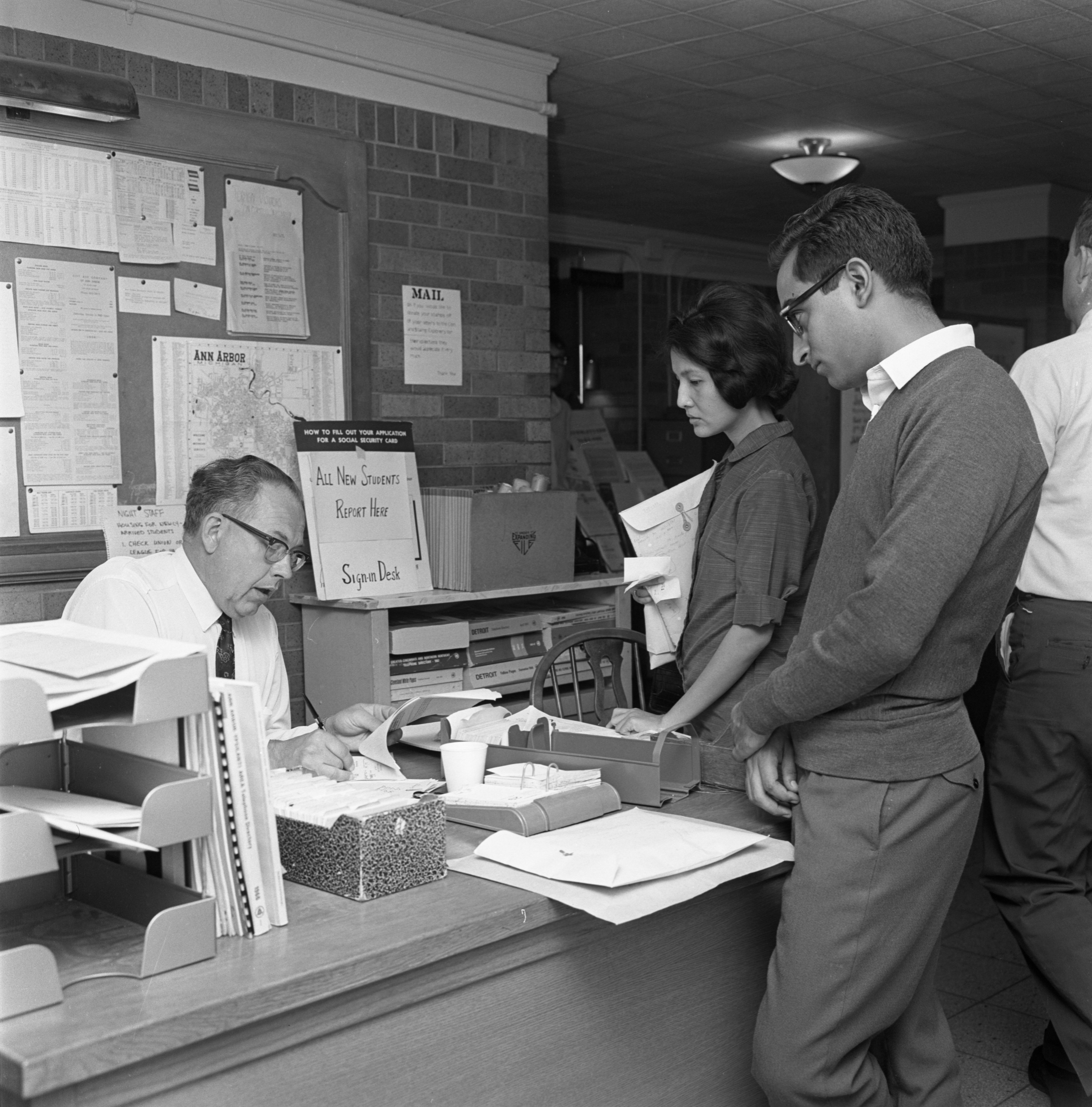 UM Students Register For Activities At The International Center, September 1967 image