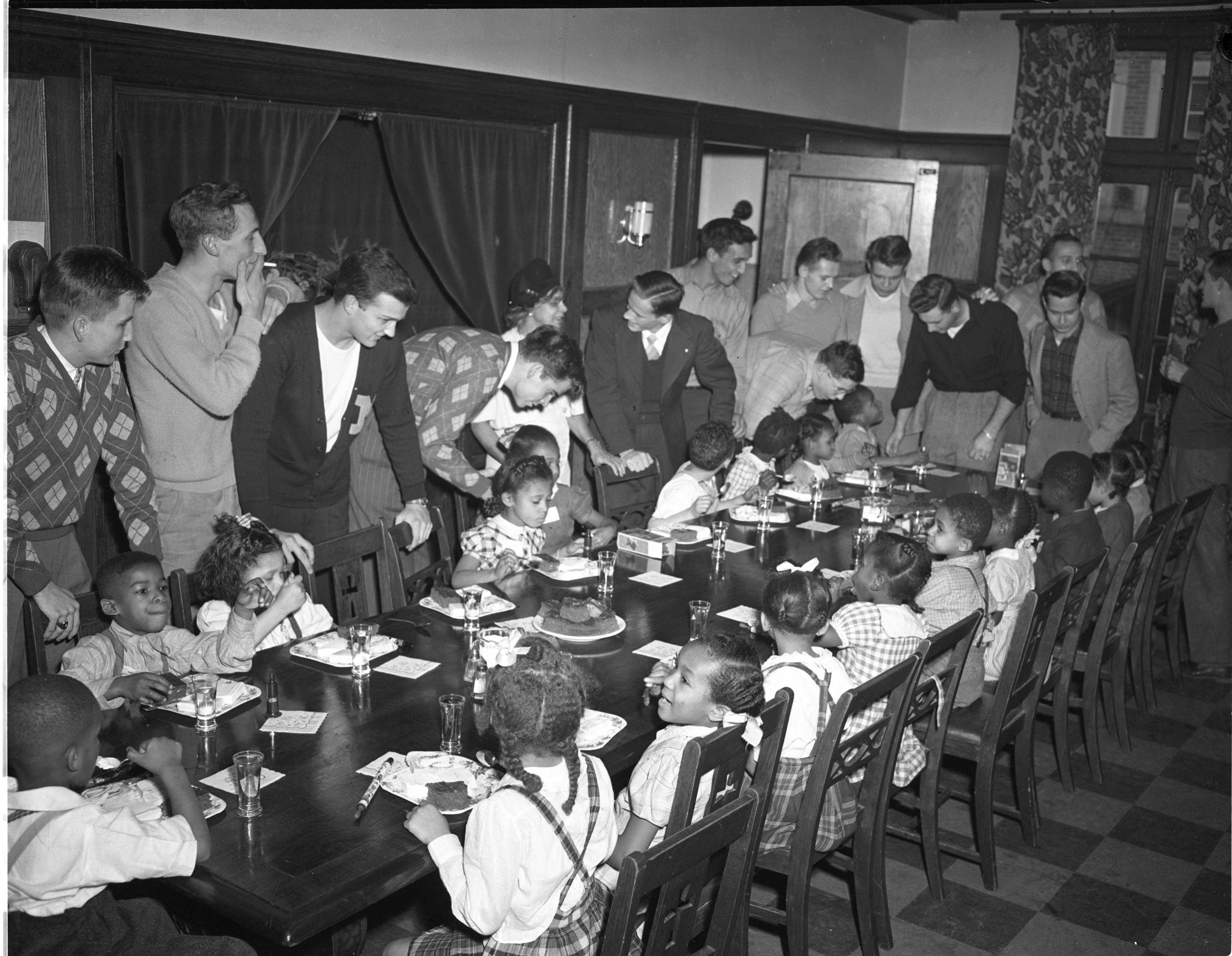 Sigma Chi Fraternity Hosts Christmas Party For Local Children, December 1946 image