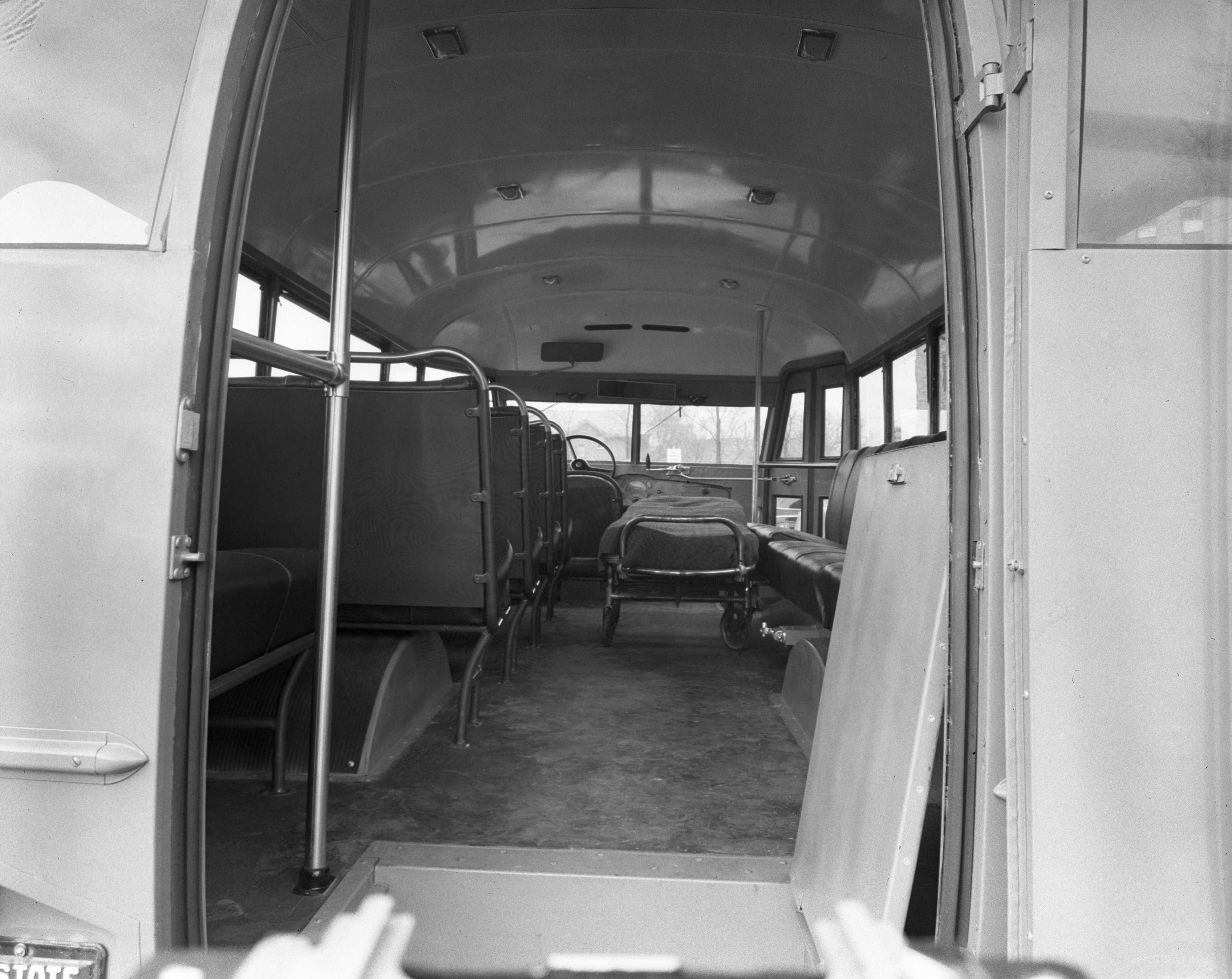 University Hospital's New 18 Place Bus Ambulance, January 1942 image