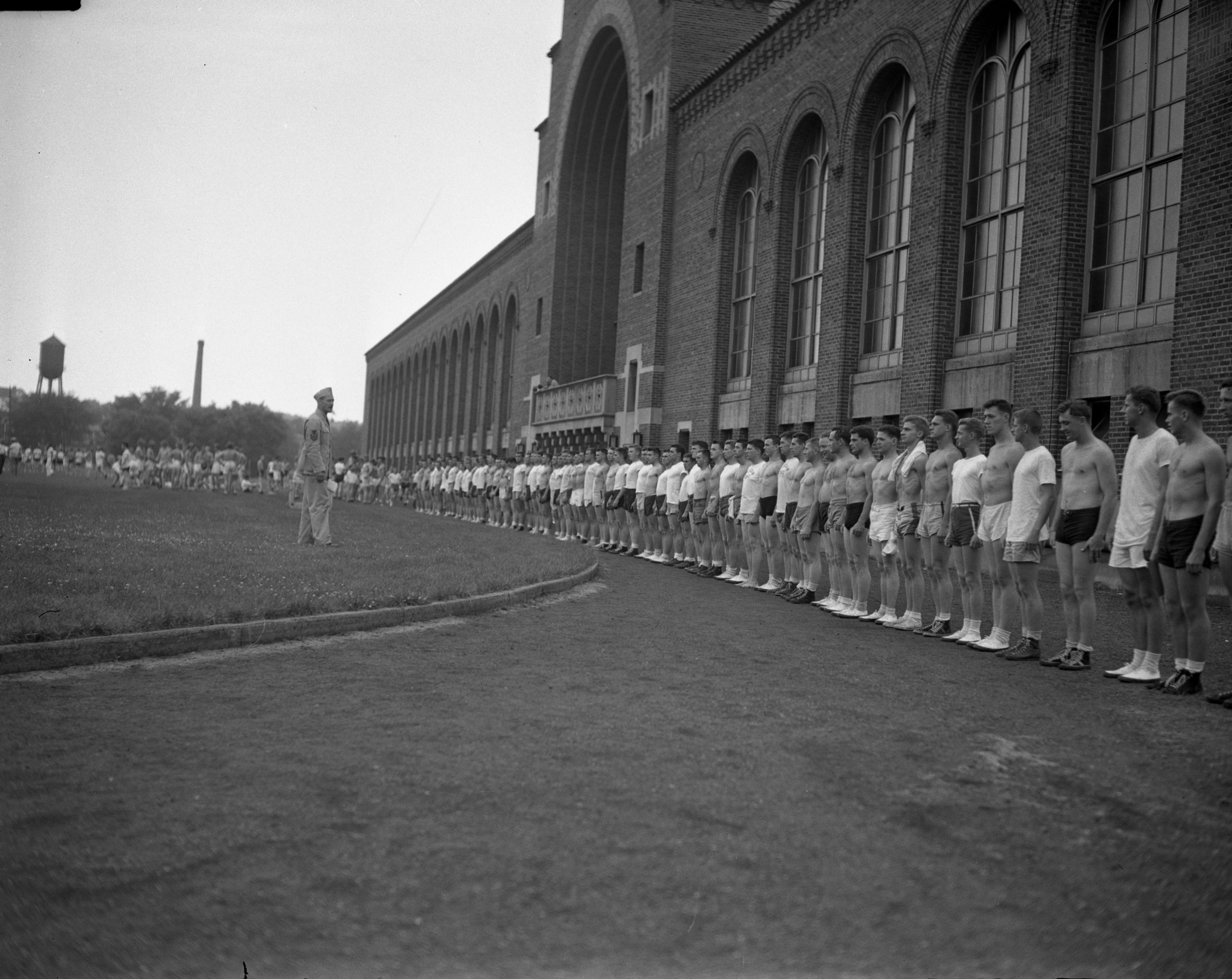 700 in Gym Class in Navy School, University of Michigan, July 1943 image