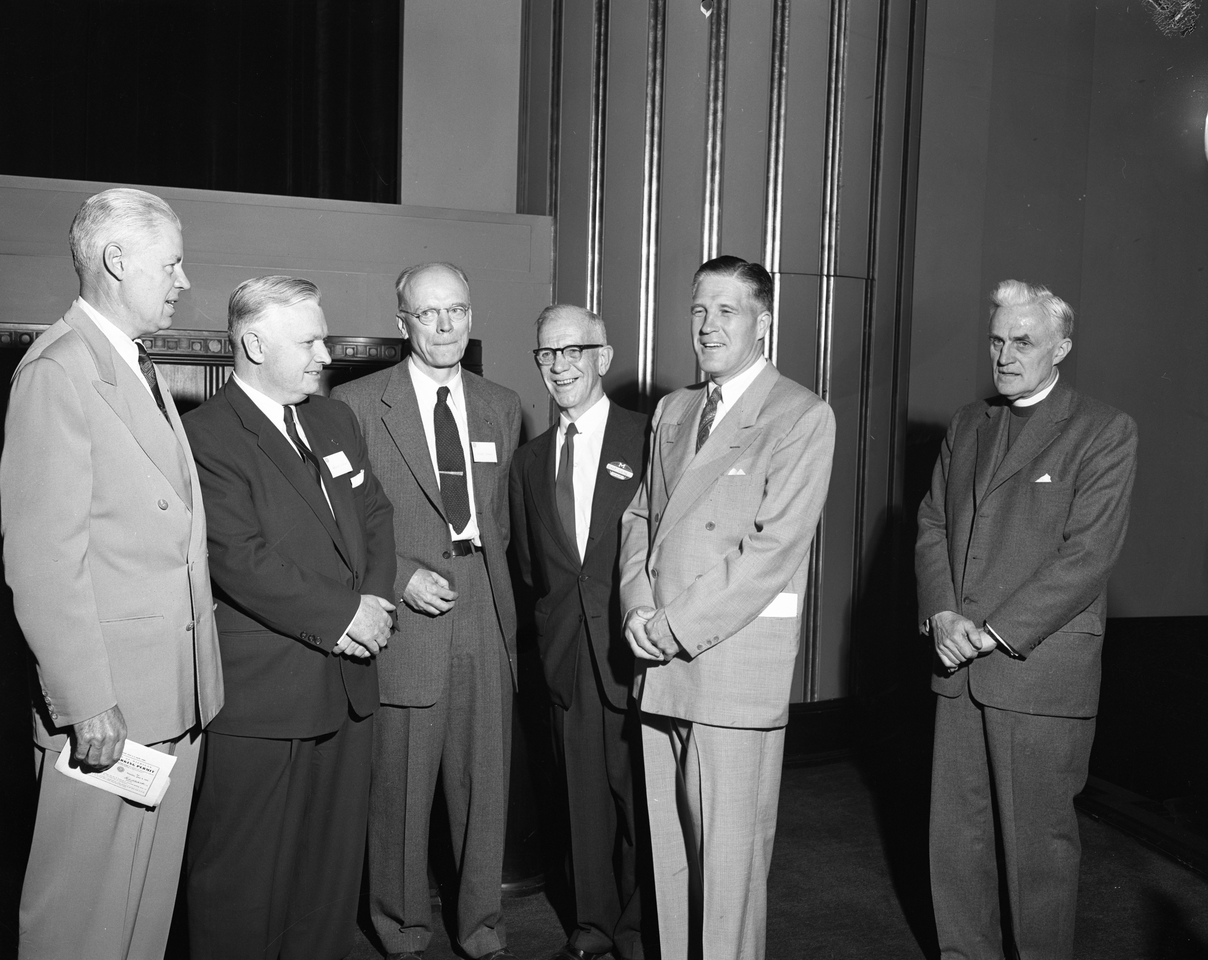 Dignitaries at the dedication of the University of Michigan's Phoenix Project, June 1955 image
