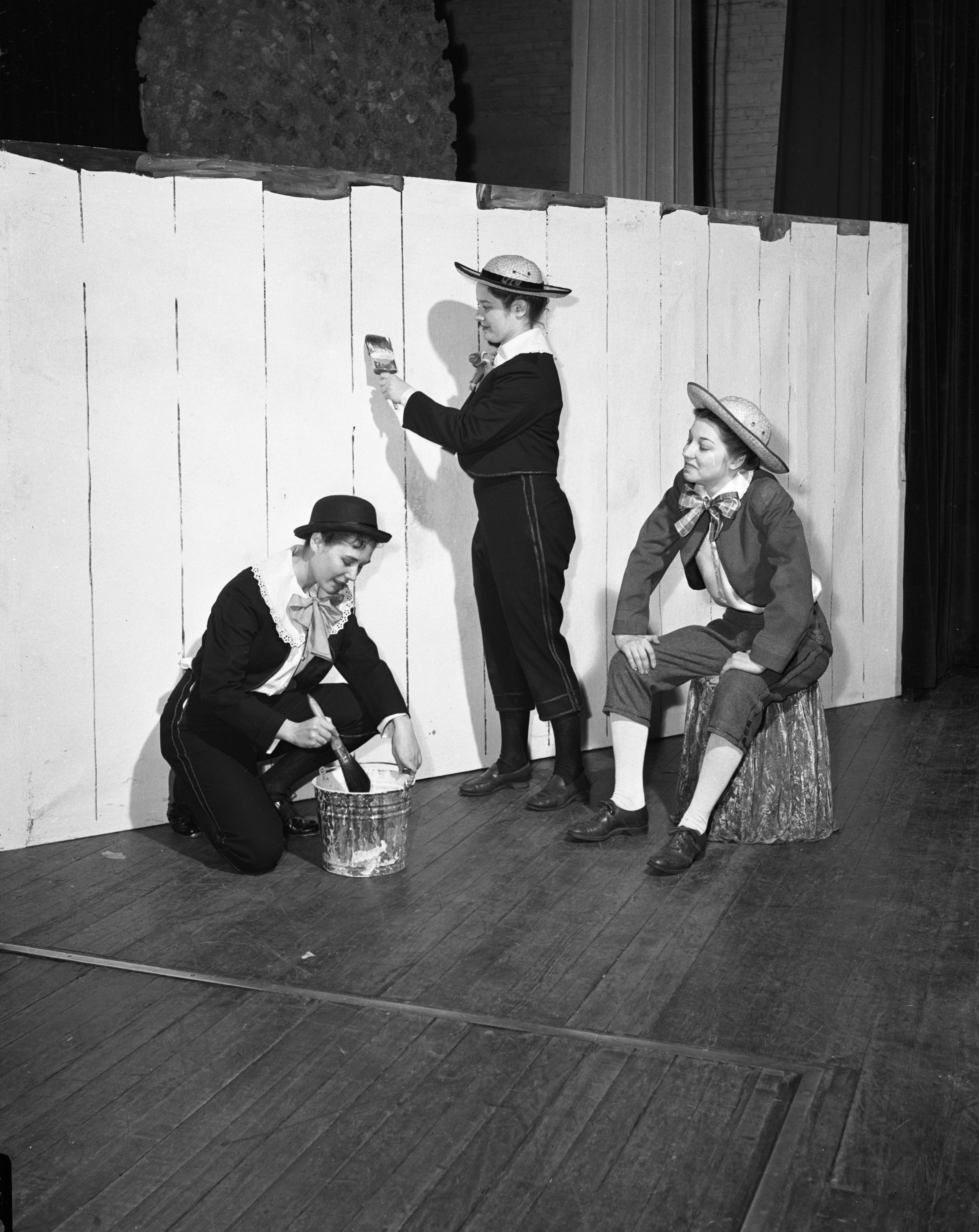 "University of Michigan students present the musical-play ""Tom Sawyer,"" March 1944 image"