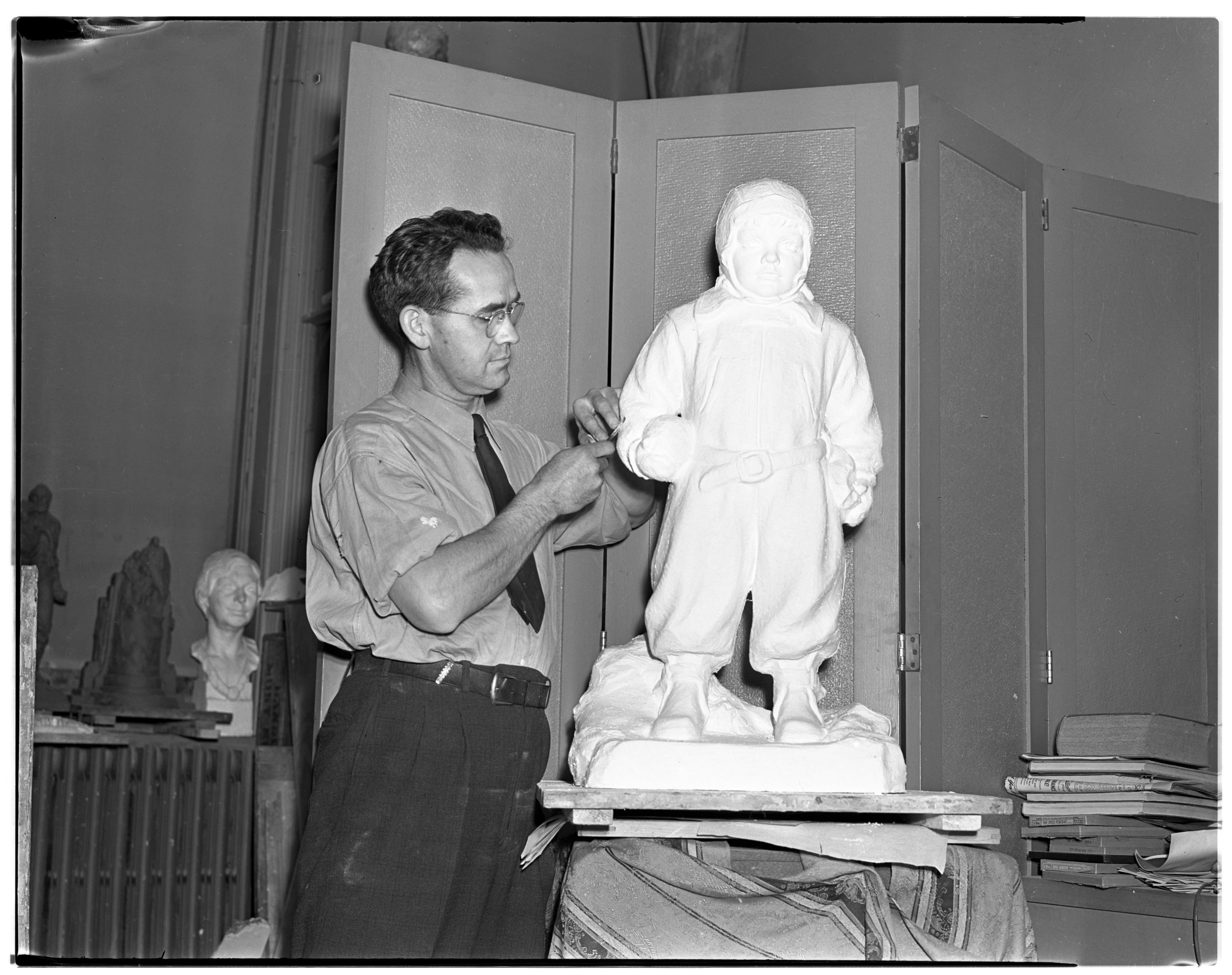 Avard T. Fairbanks, Sculptor and University of Michigan instructor, April 1938 image
