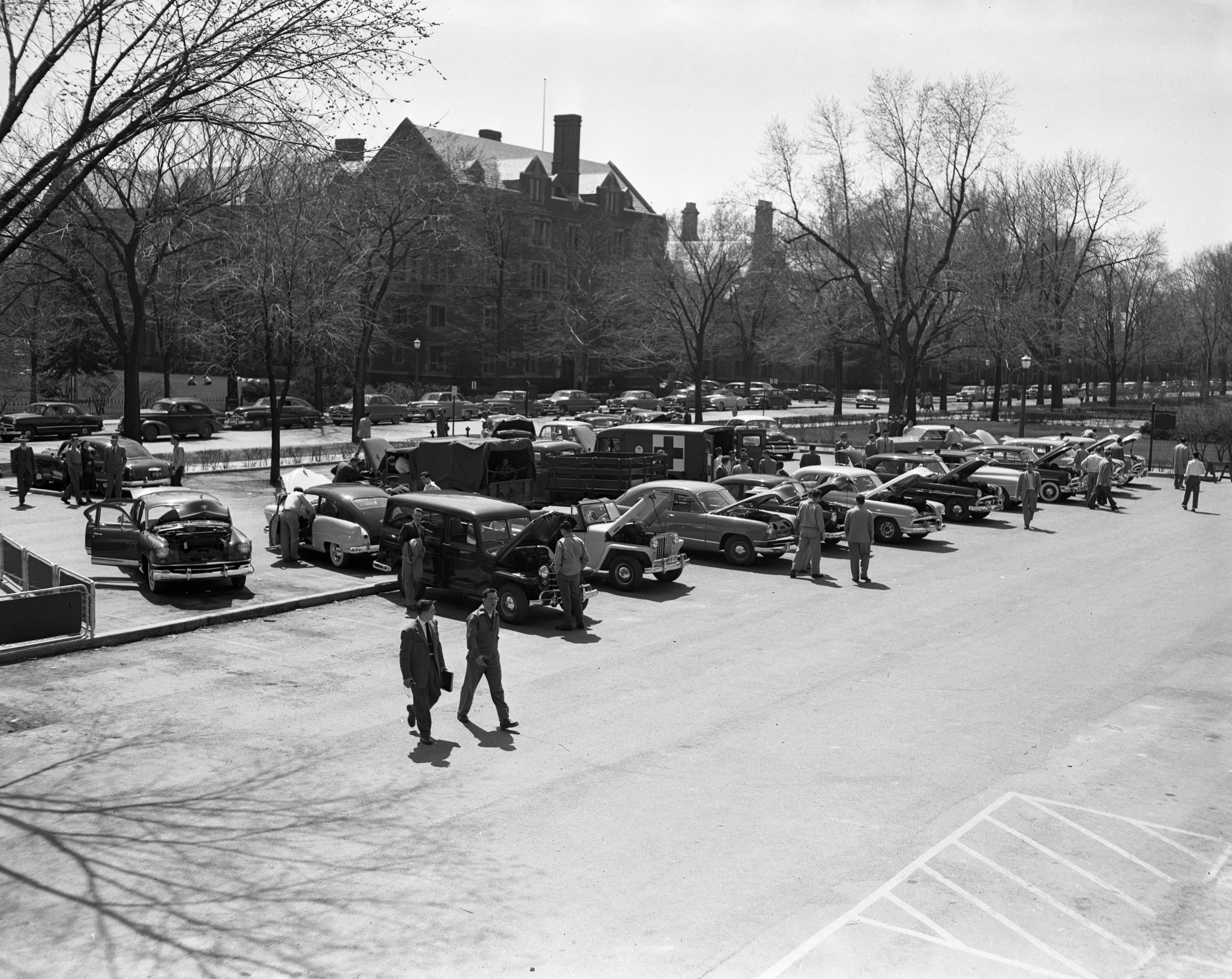 University of Michigan Engineering School Auto Show and Open House, April 1951 image