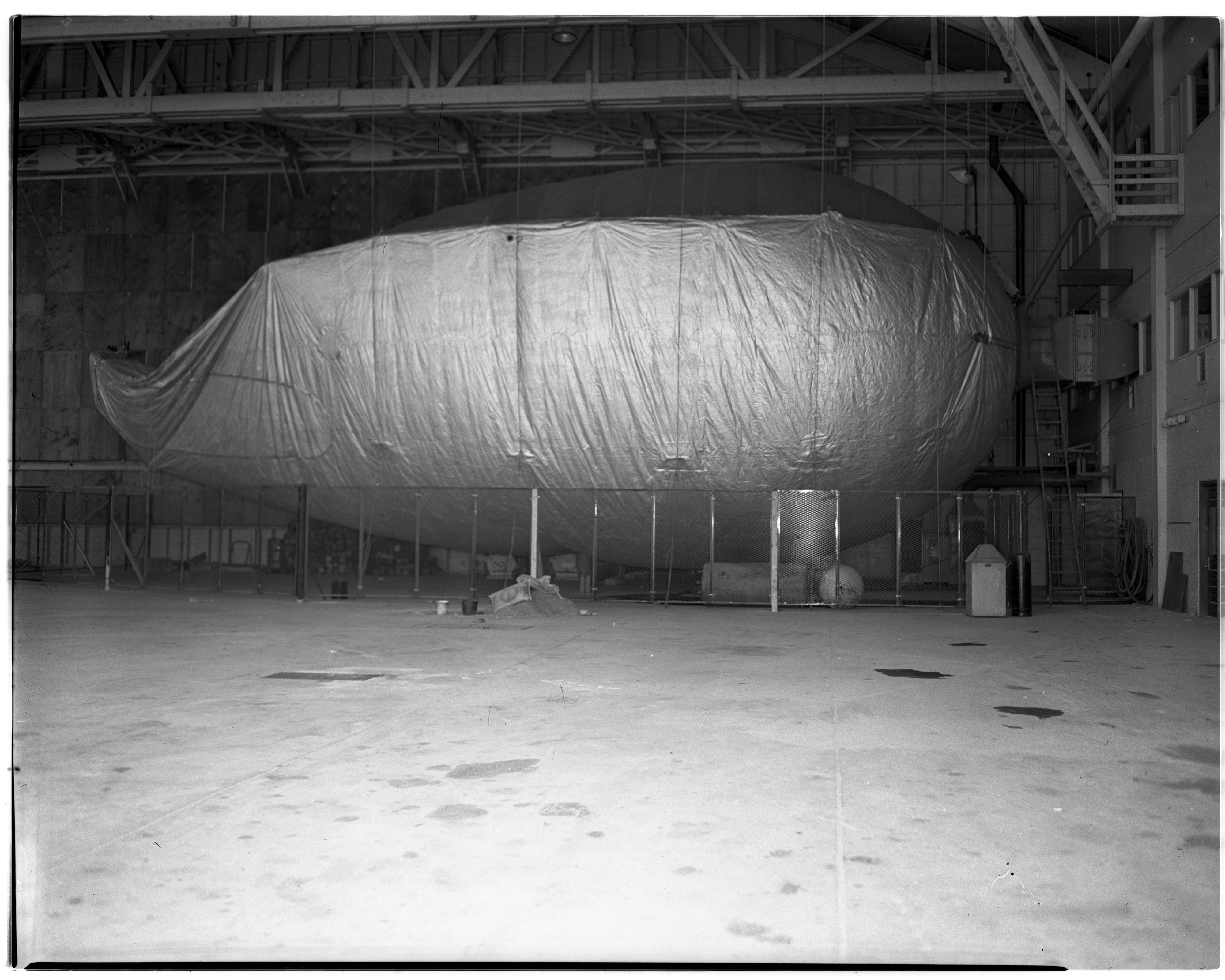 Barrage Balloon at U-M's Supersonic Wind Tunnel at Willow Run Laboratories, April 1947 image