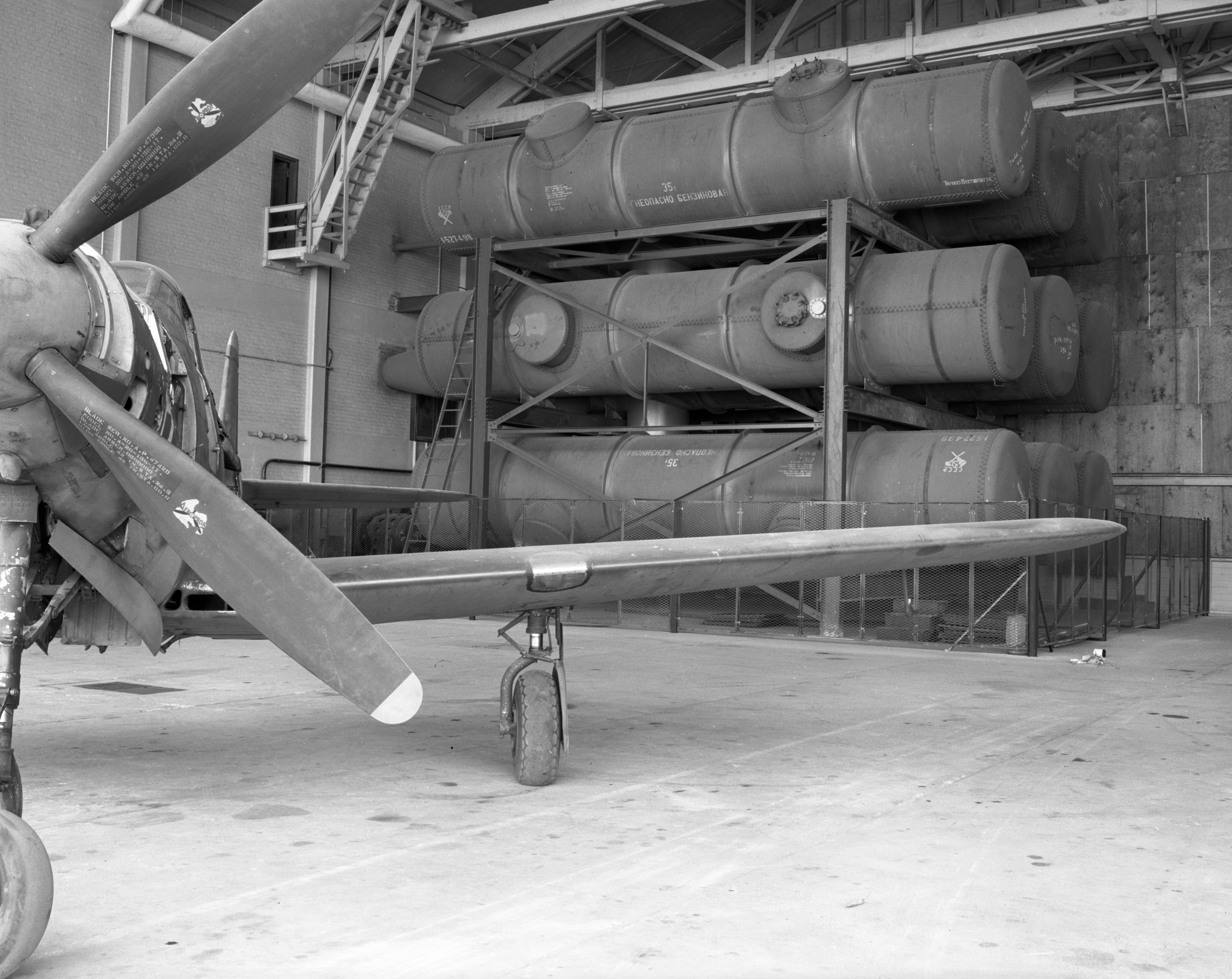 Vacuum Tanks for U-M's Supersonic Wind Tunnel at Willow Run, April 1947 image
