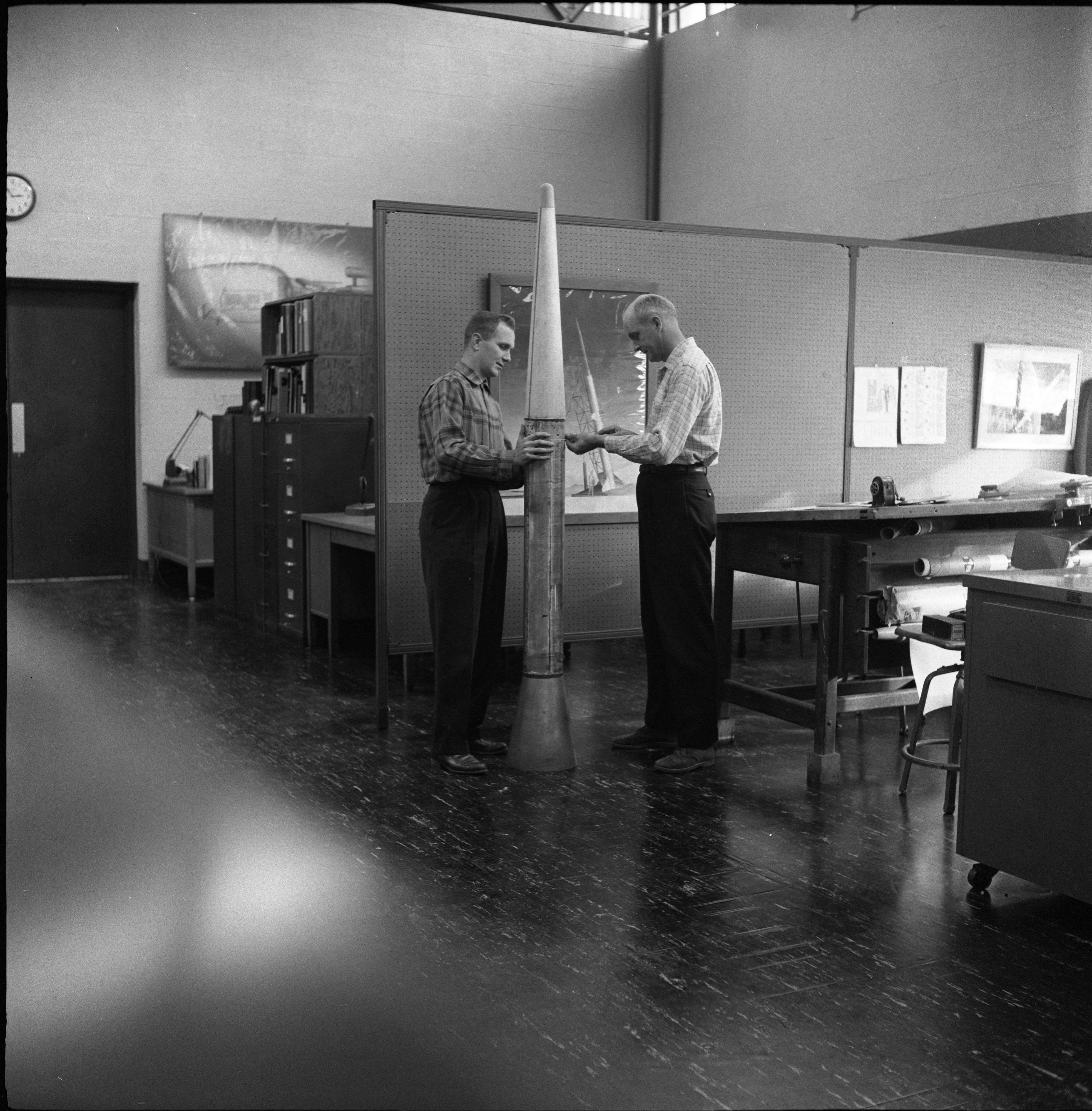 Frederick F. Fischbach & William H. Hansen Work On A Rocket At The High Altitude Laboratory, December 7, 1959 image