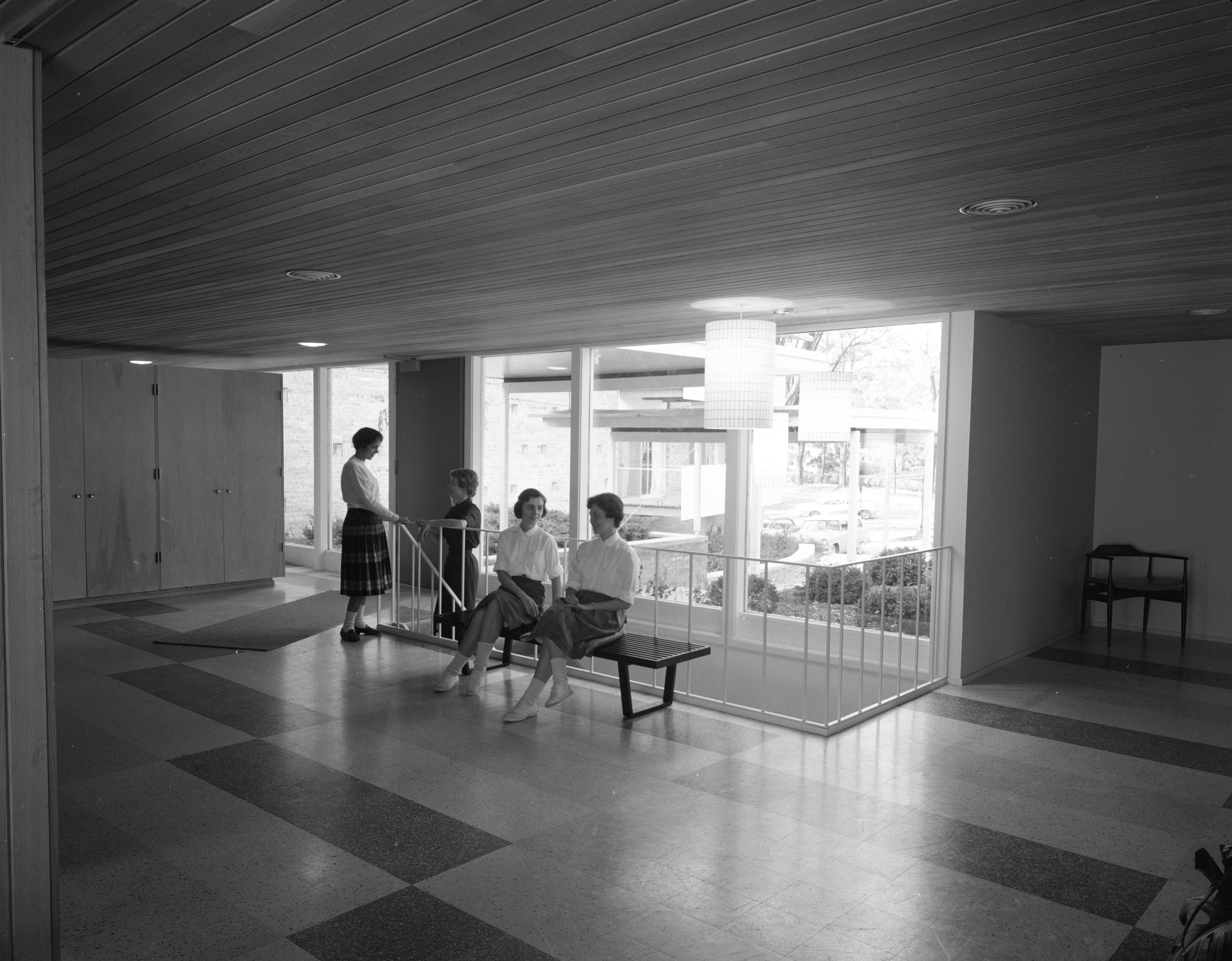 Lobby of New Delta Gamma Sorority House at 1800 Washtenaw Ave., October 1958 image