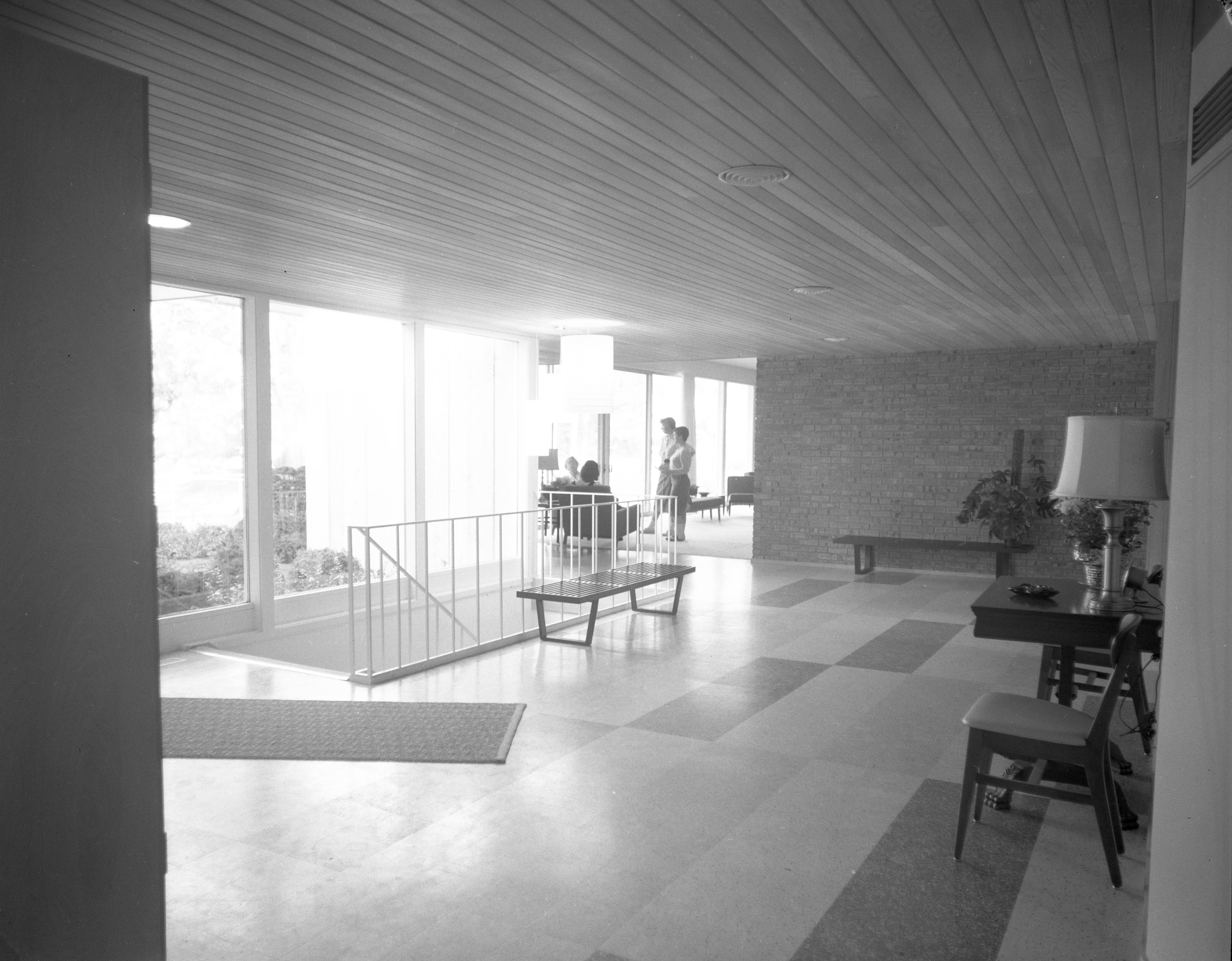 Lobby Filled With Light at New Delta Gamma Sorority House at 1800 Washtenaw Ave., October 1958 image