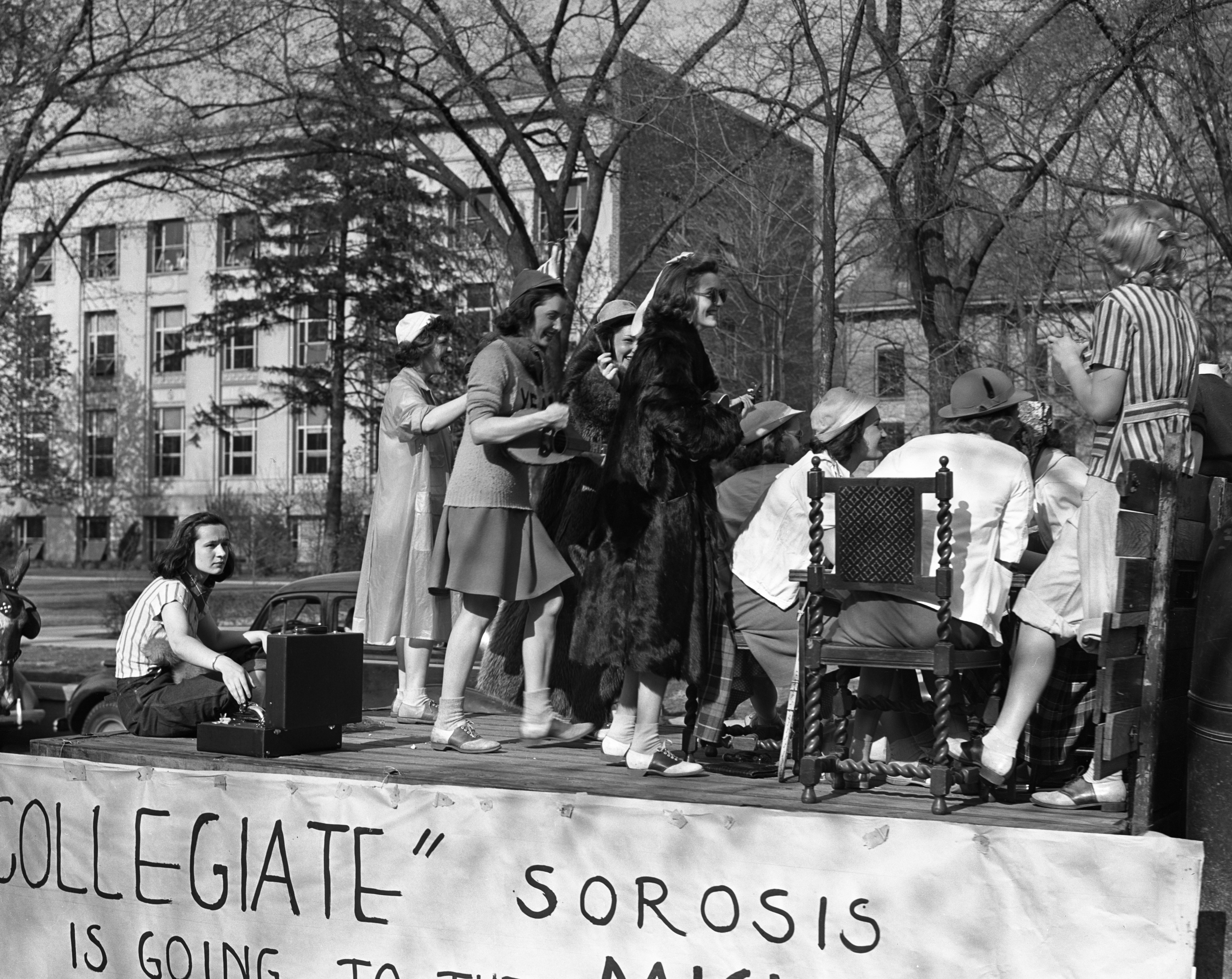 Participants in the third annual Michigras Parade, May 5, 1939 image