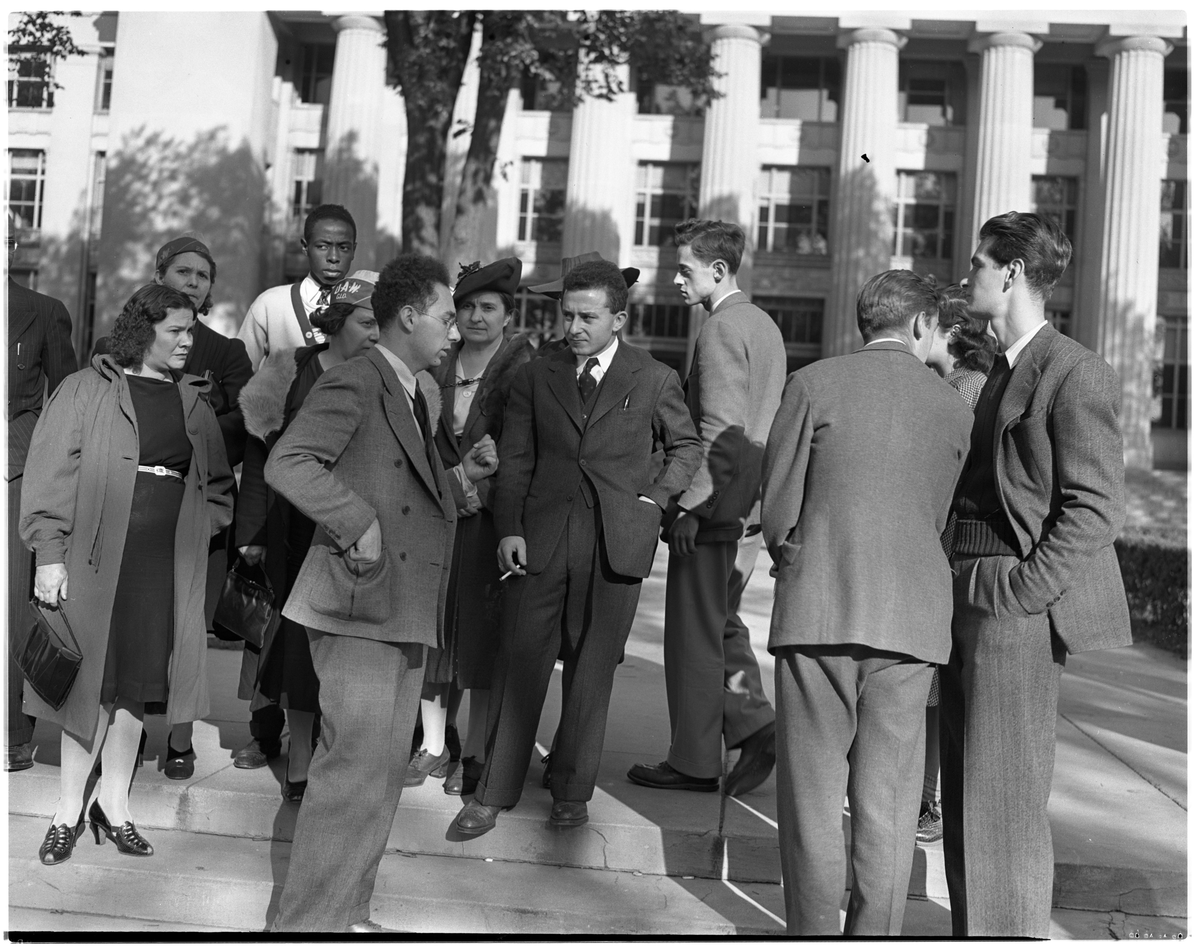 Demonstration on Behalf of Hugo Reichard, Dismissed U-M Student, September 1940 image
