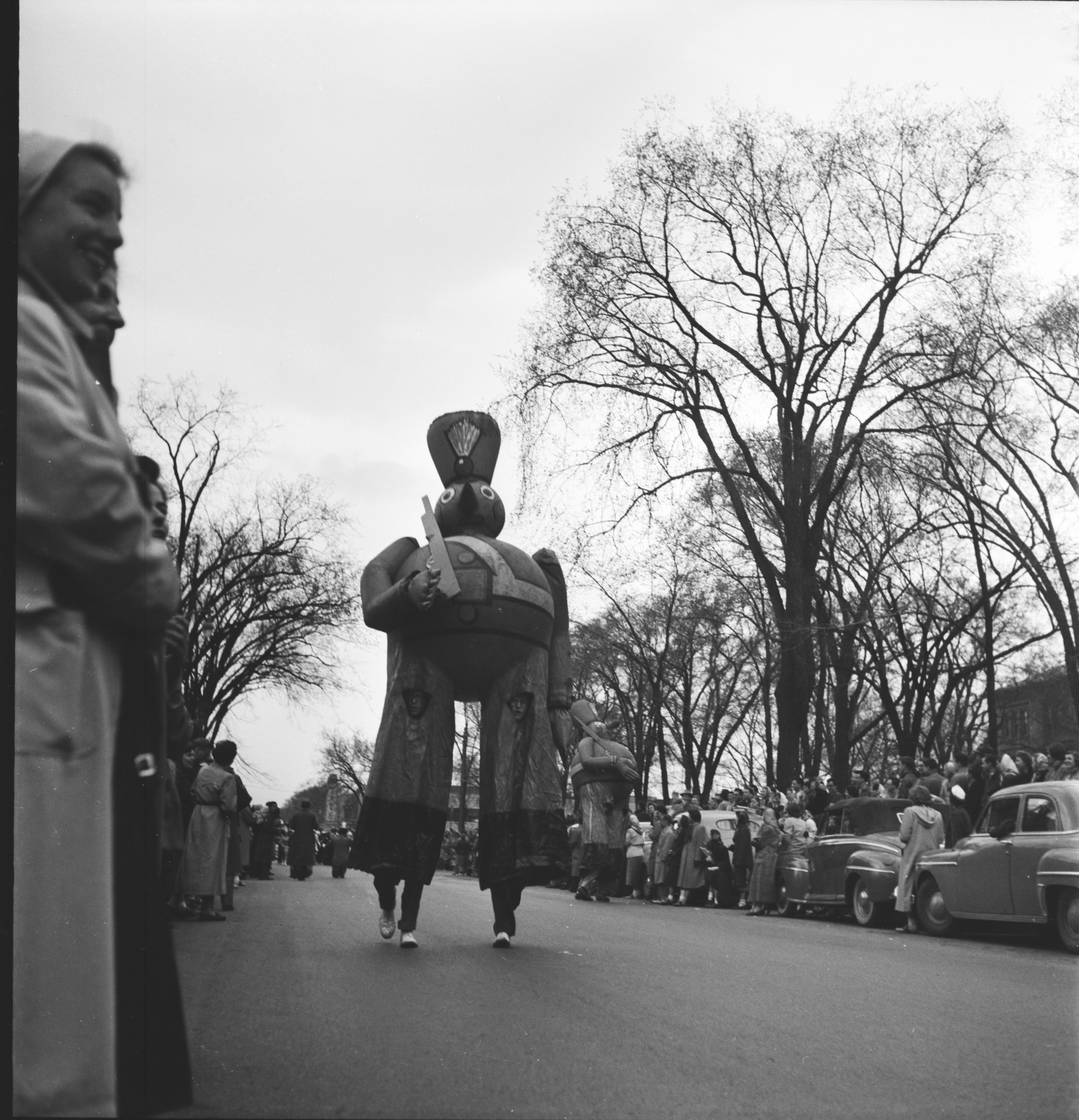 Balloon in the U-M Michigras Parade, April 1950 image