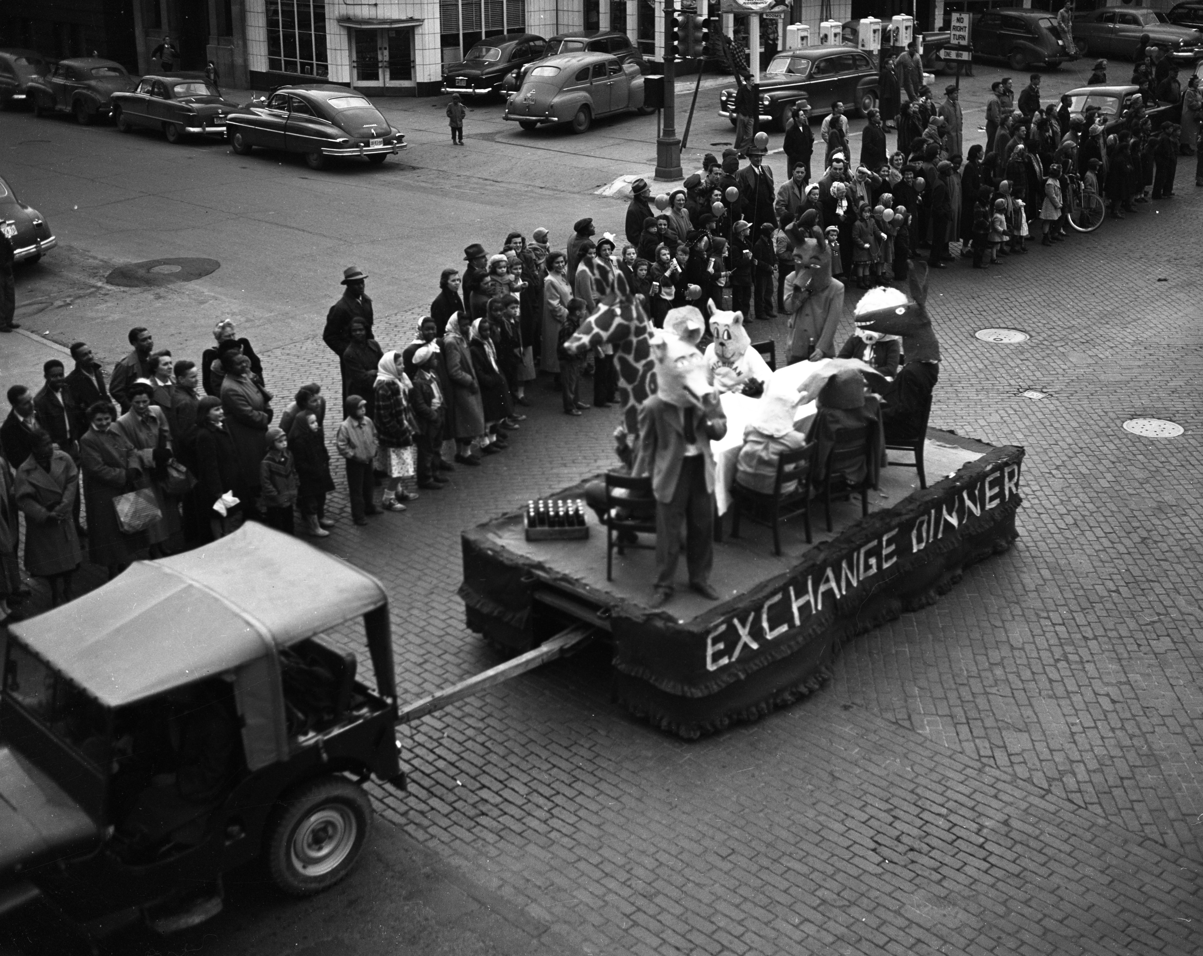 U-M Michigras Parade, April 1950 image