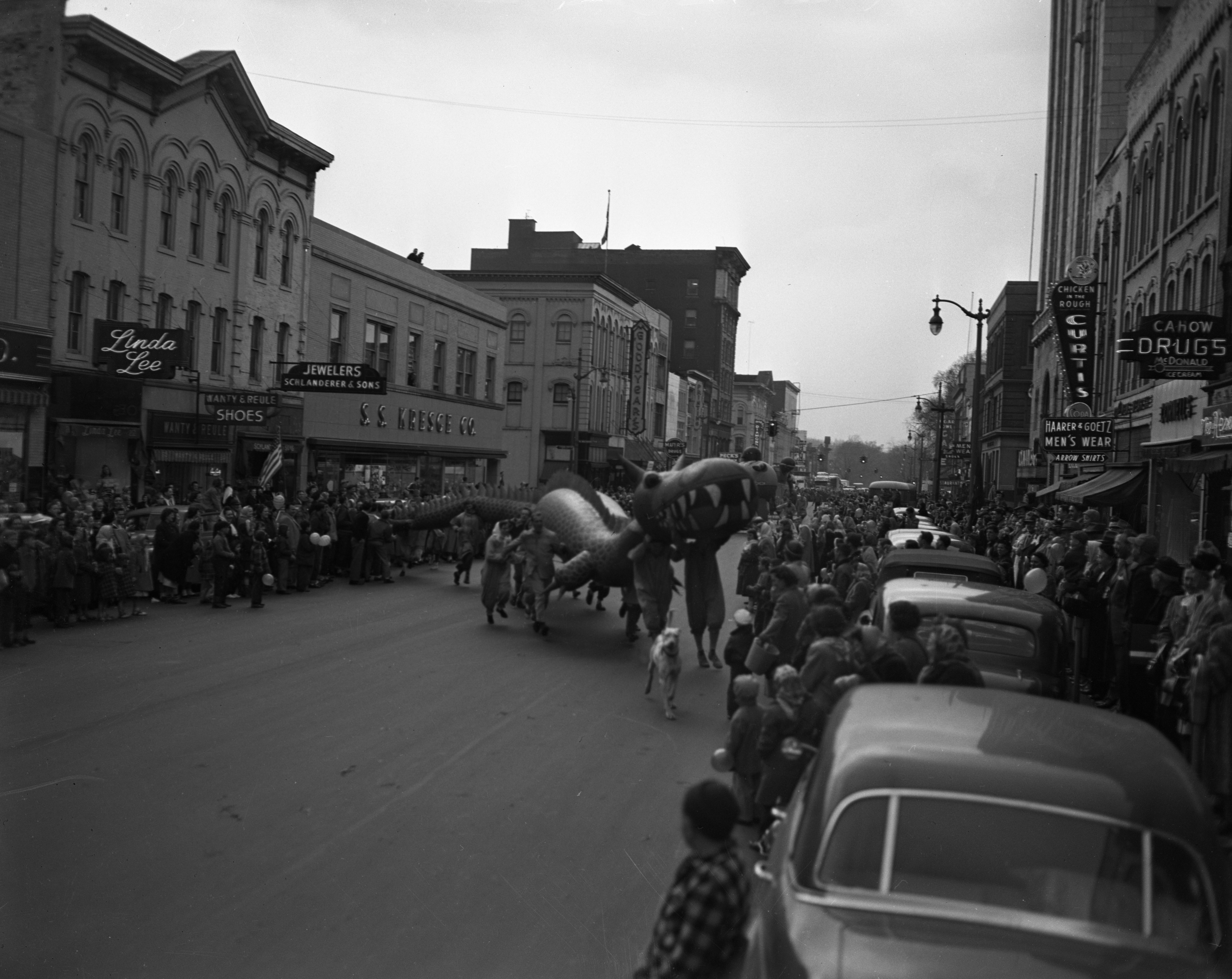 Dragon Balloon, U-M Michigras Parade, April 1950 image
