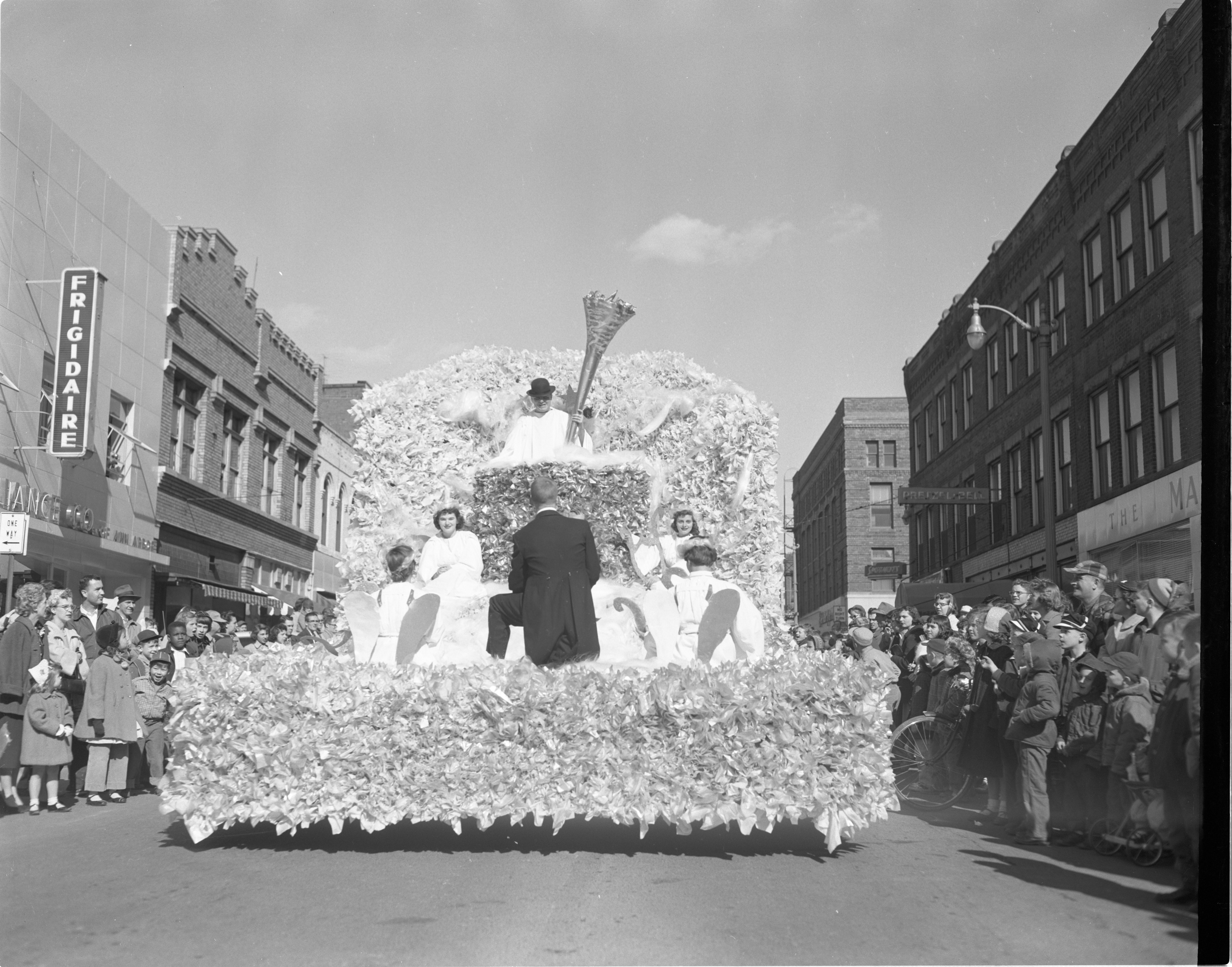 Blow, Gabriel, Blow - Angell & Taylor,  Michigras Parade, April 1956 image