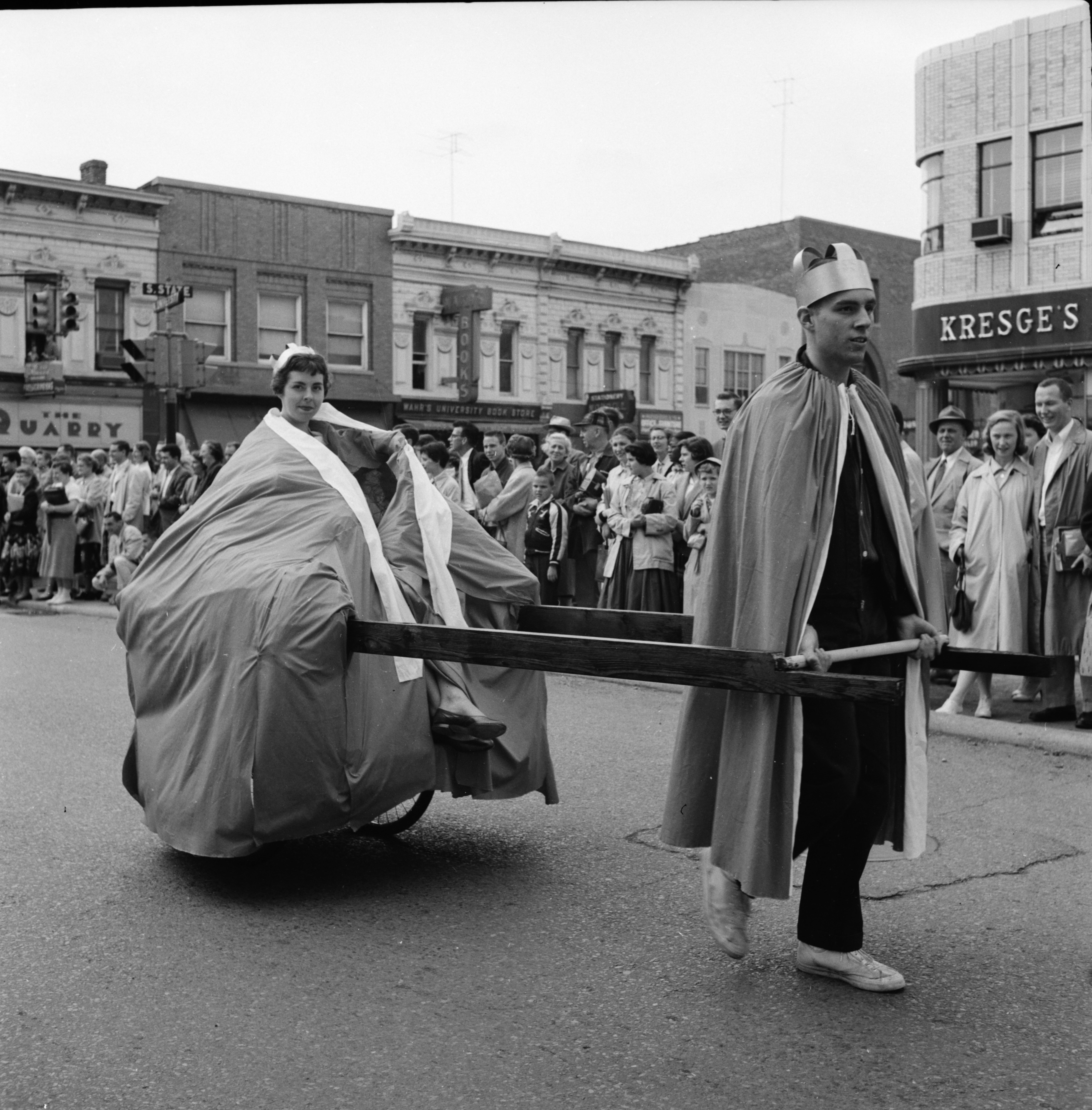 "University of Michigan ""Spring Weekend"" parade, May 1957 image"