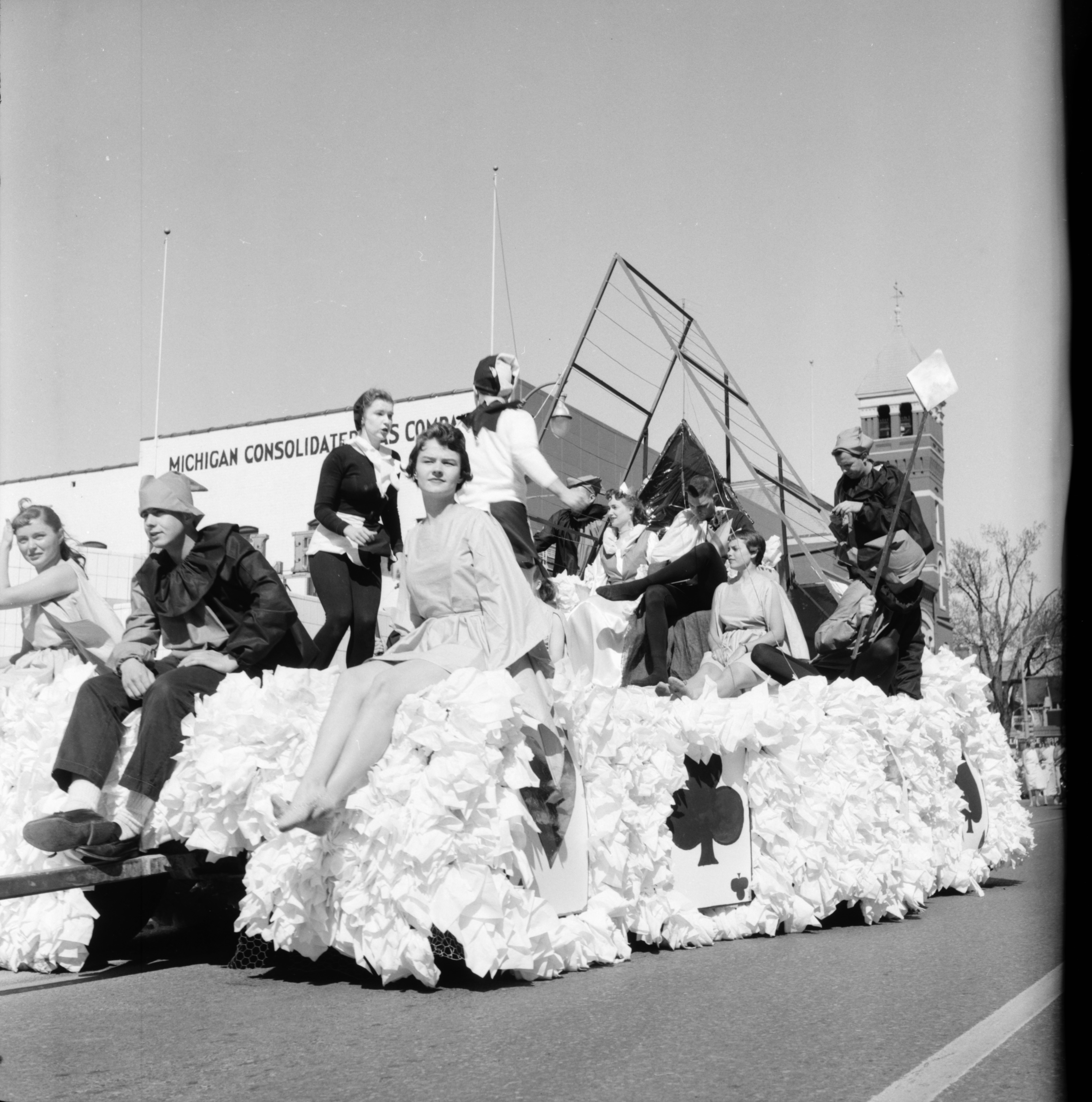 A Float in the Michigras Parade, April 1958 image