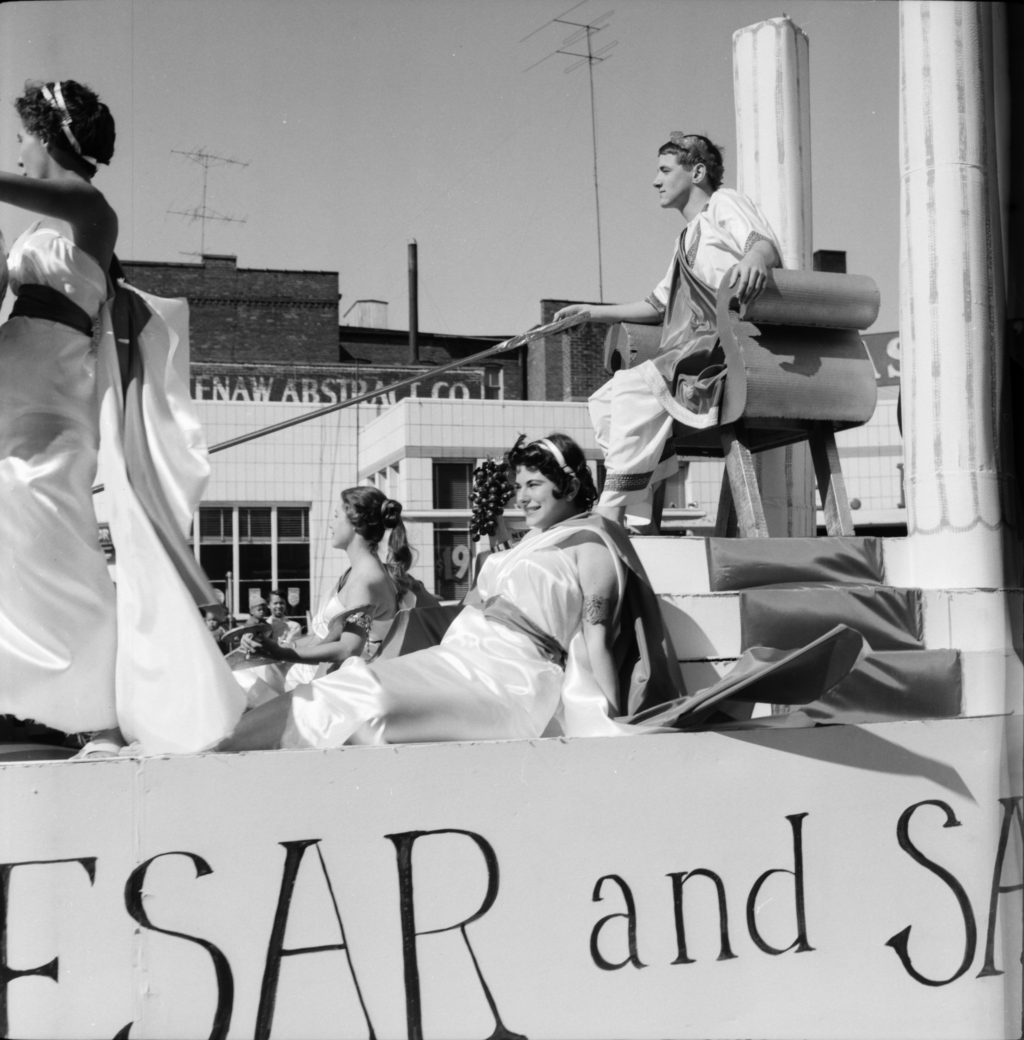 Romans in the Michigras Parade, April 1958 image