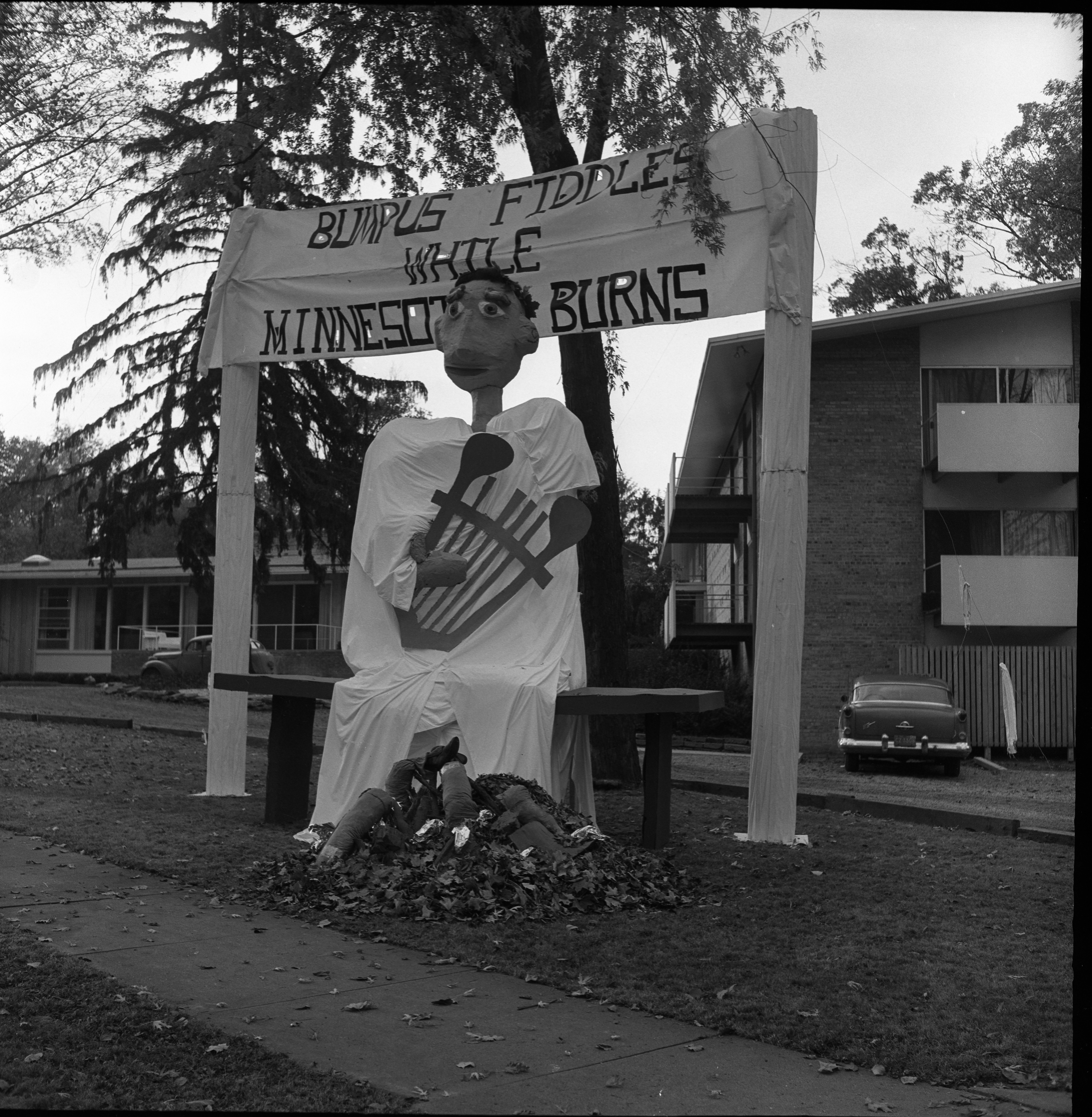Homecoming Display At the Delta Gamma sorority, 1800 Washtenaw Ave,  October 1960 image