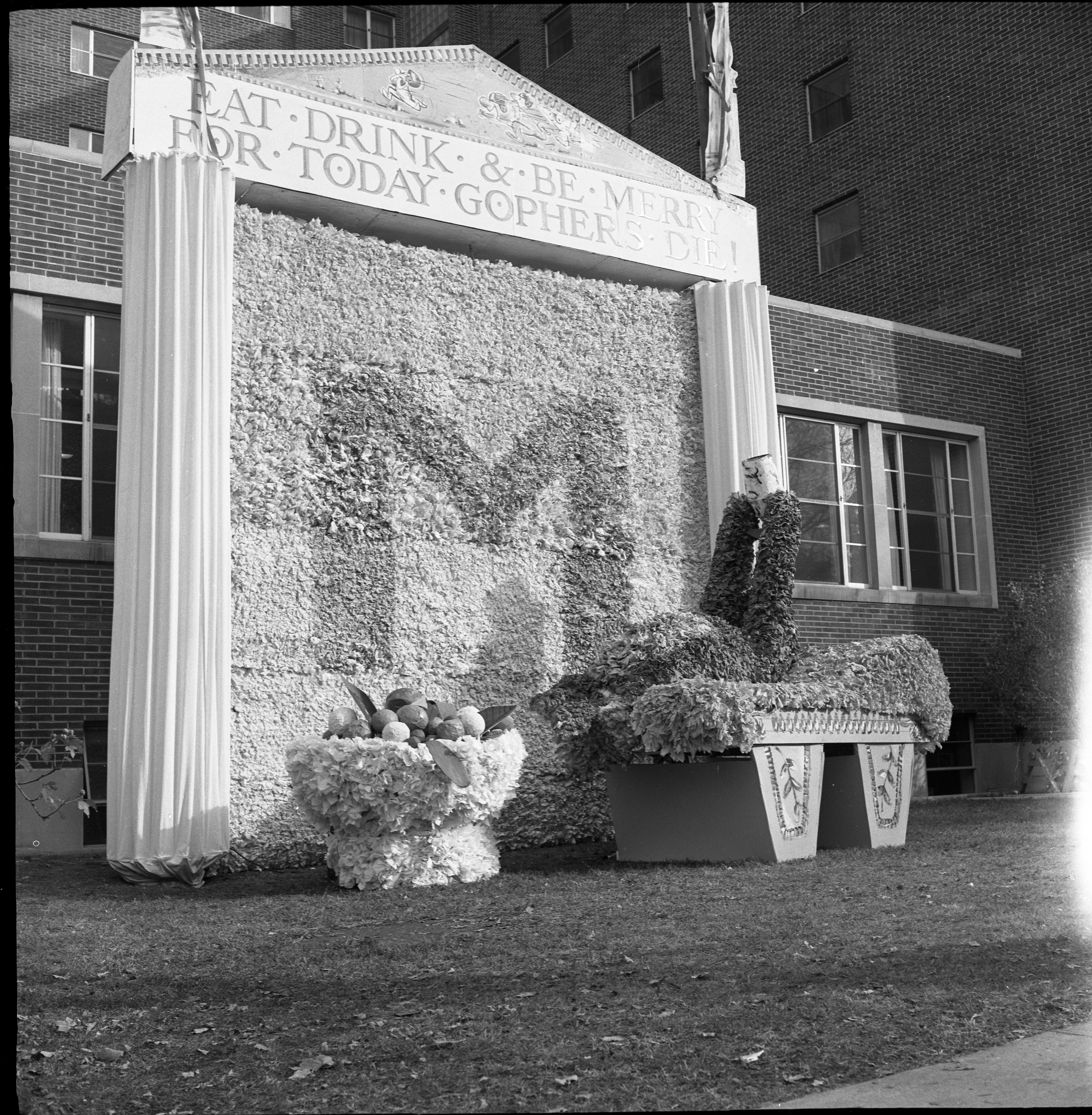 Homecoming Display At The Gomberg House, South Quad, October 1960 image