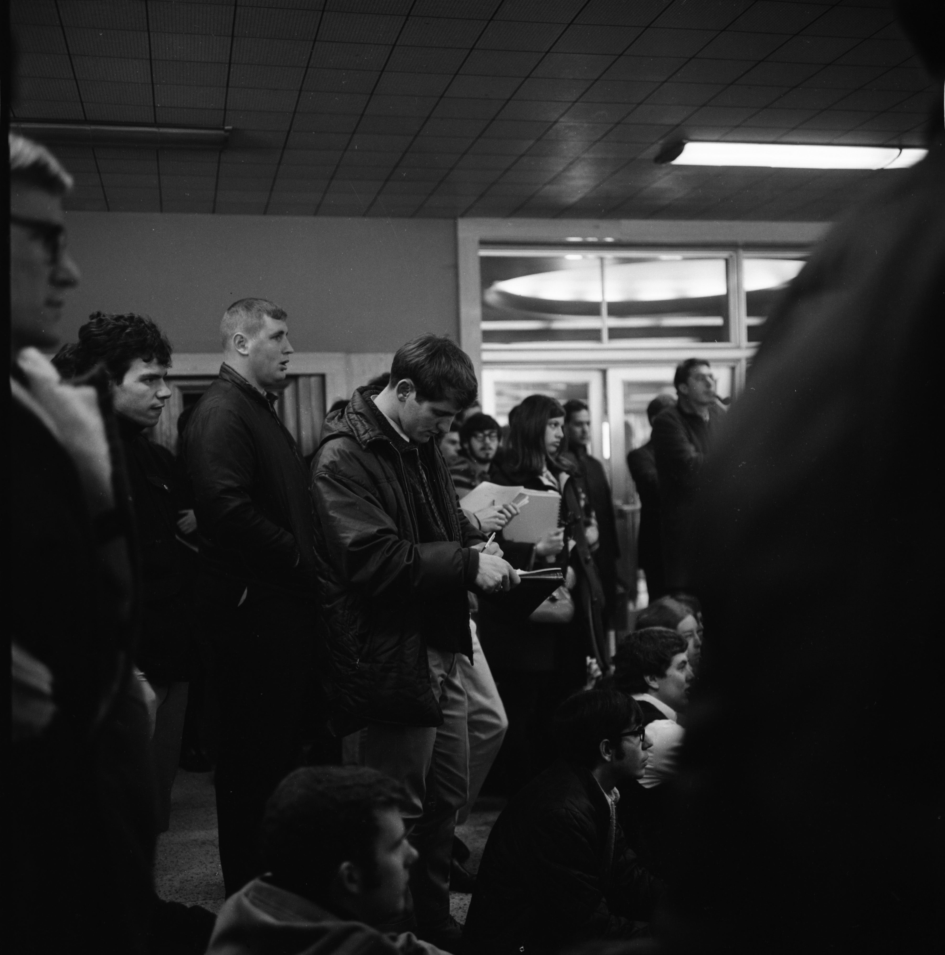 Students at UM Sit-In, December 1966 image