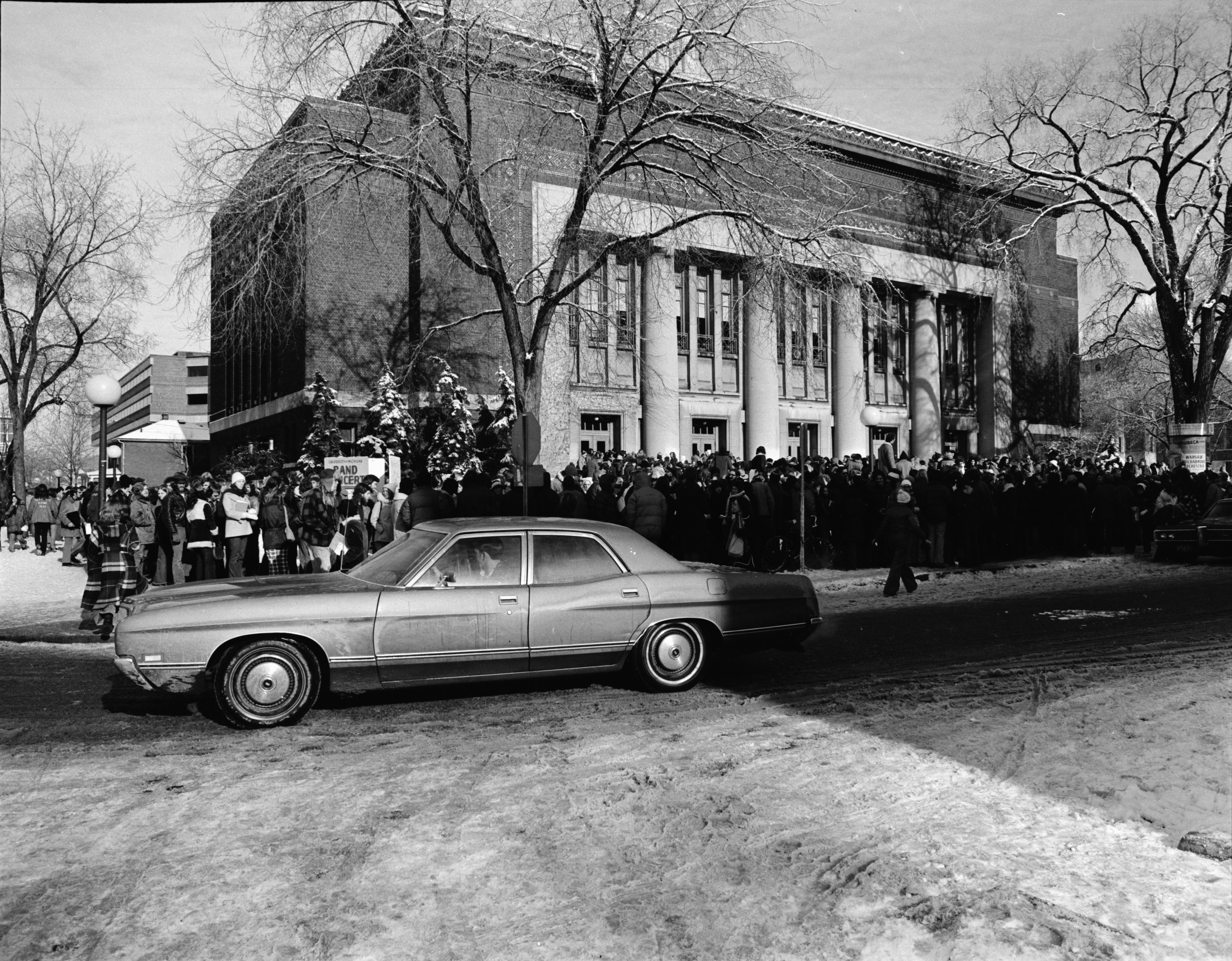 Line for Bob Dylan Tickets Outside Hill Auditorium, December 1973 image