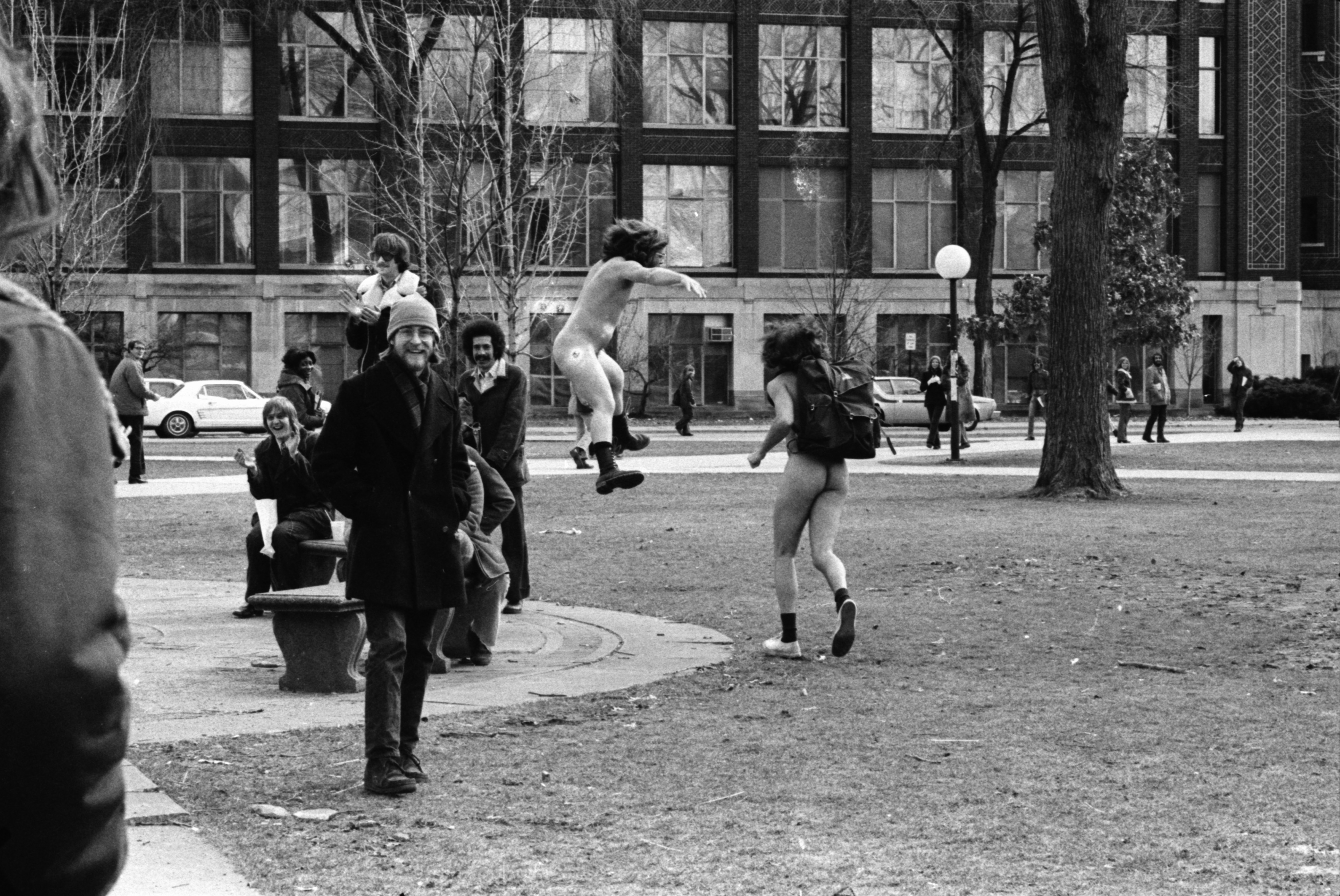 Streakers on the U-M campus, March 1974 image