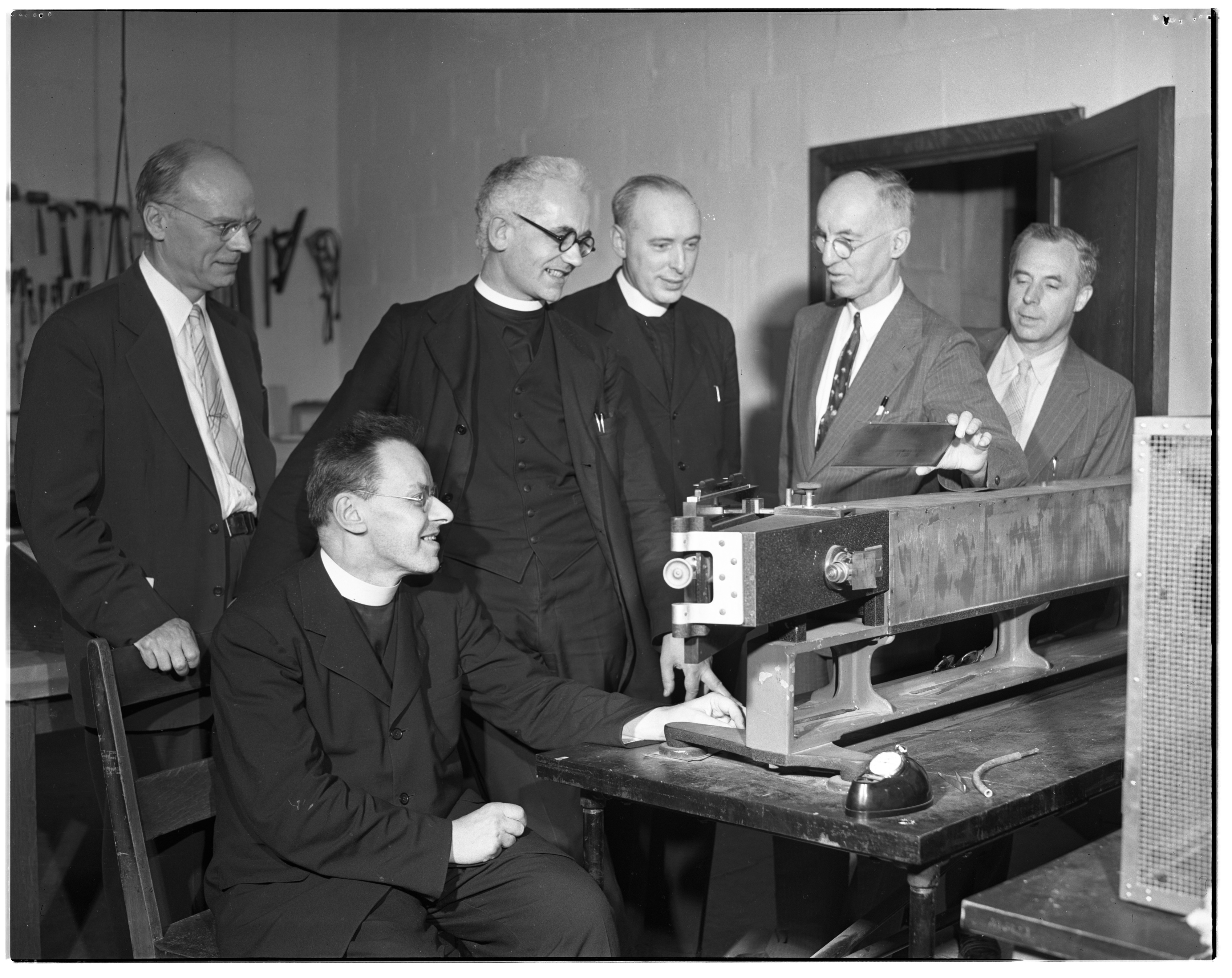 Vatican Astronomers Visit University of Michigan Physics Department, June 1947 image