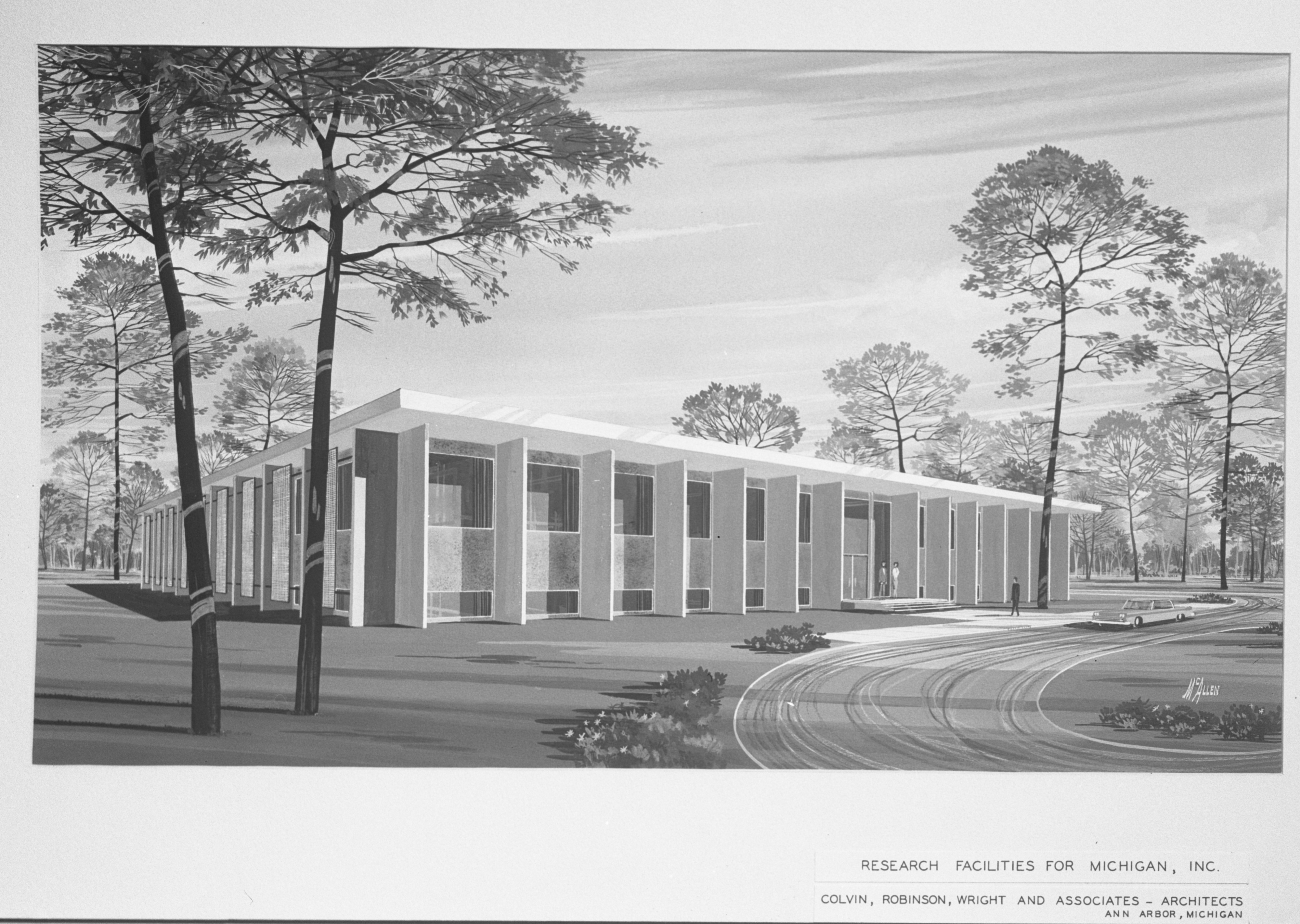 Groundbreaking Ceremony Planned for Research Lab in Ann Arbor Research Park, October 1963 image