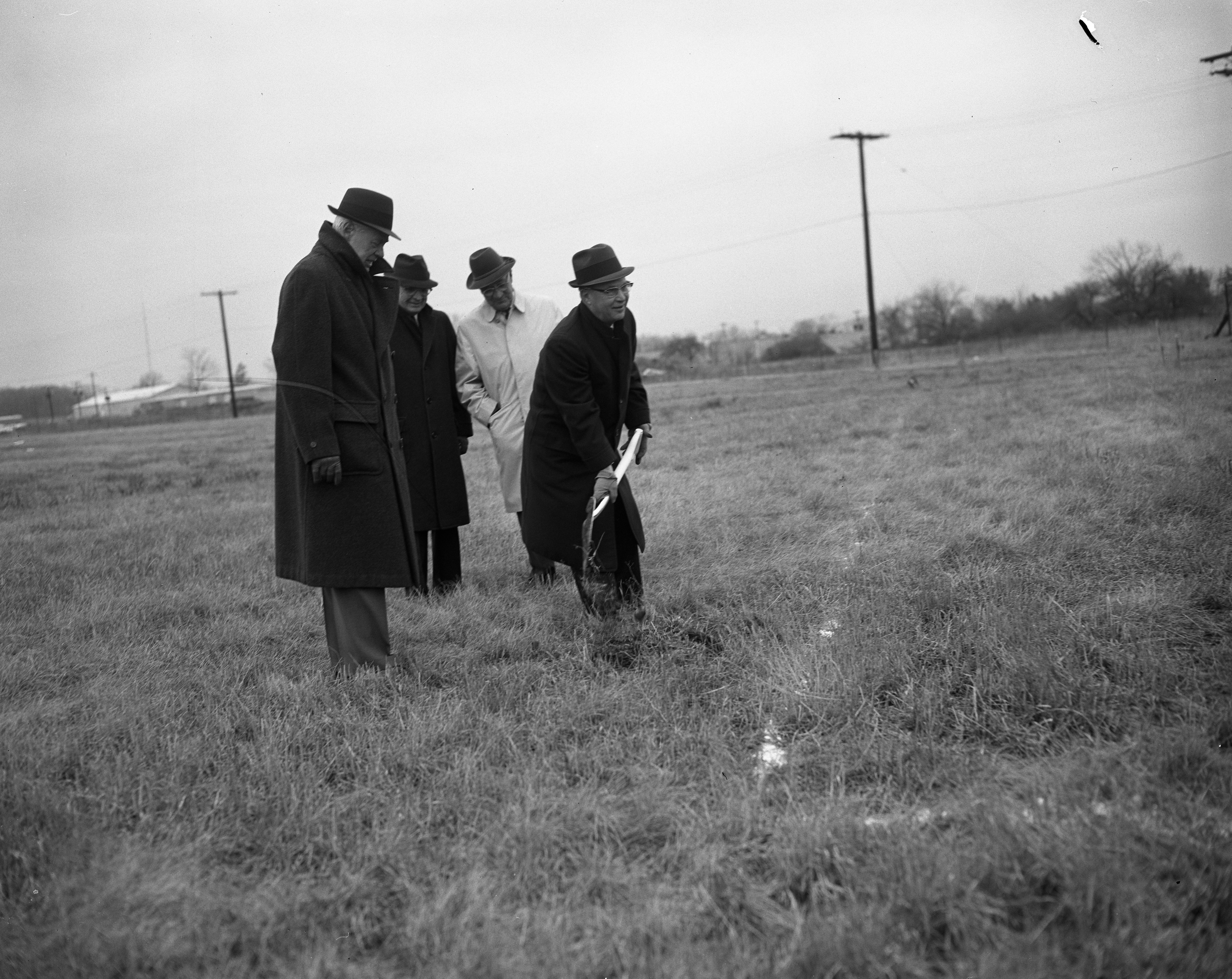 Groundbreaking Ceremony for Tecumseh Products New Research Laboratory In Ann Arbor Research Park, March 1964 image